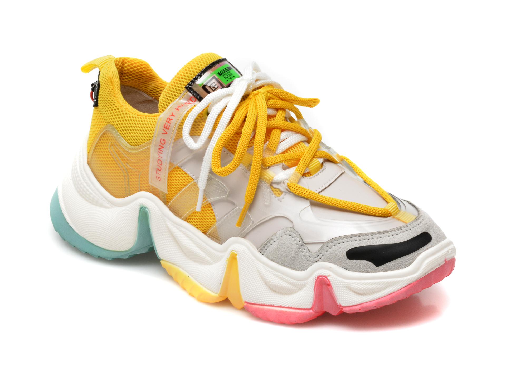 Pantofi sport GRYXX galbeni, MO1532, din material textil si piele ecologica imagine otter.ro 2021