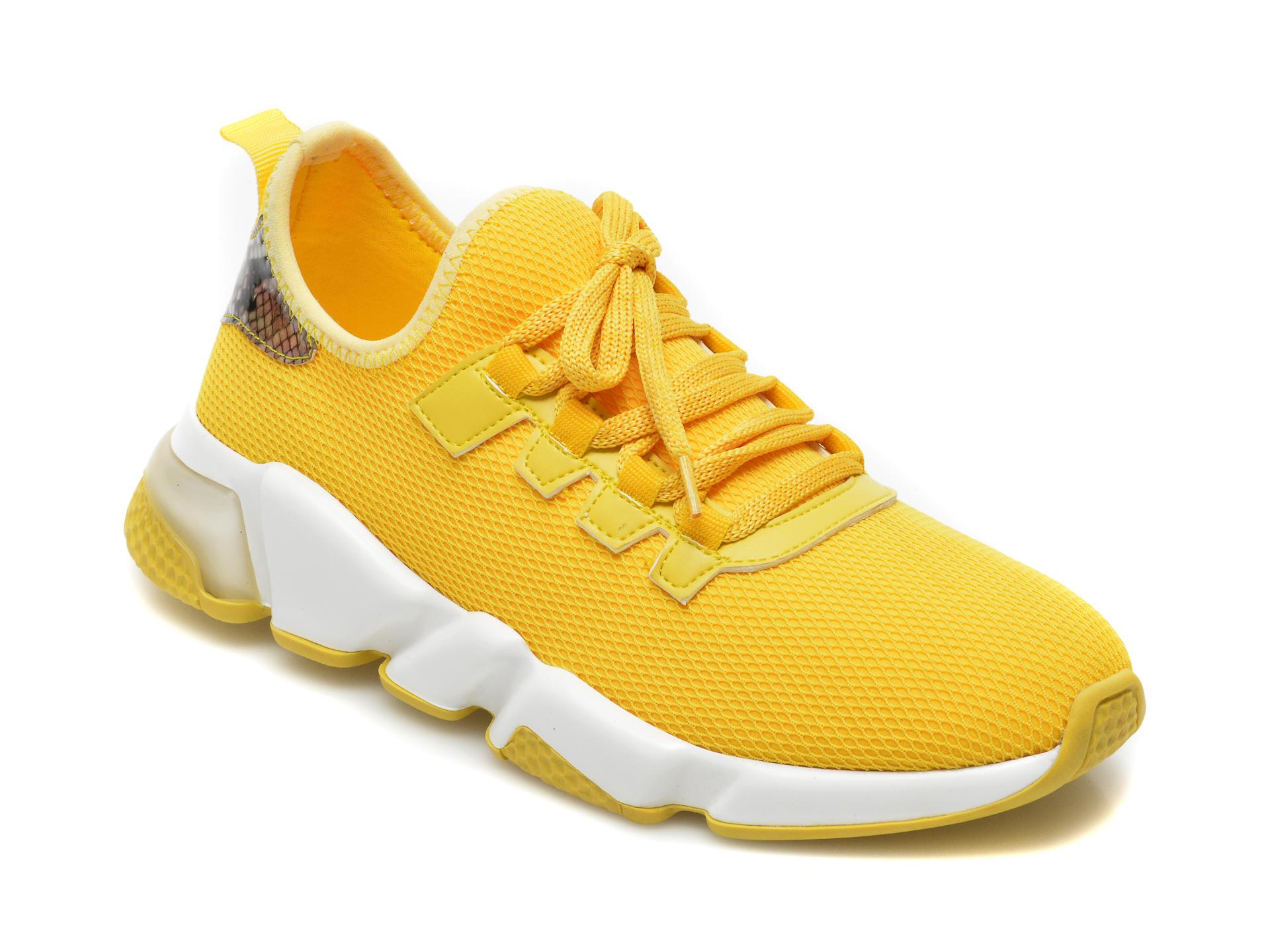 Pantofi sport GRYXX galbeni, T10107, din material textil imagine otter.ro 2021