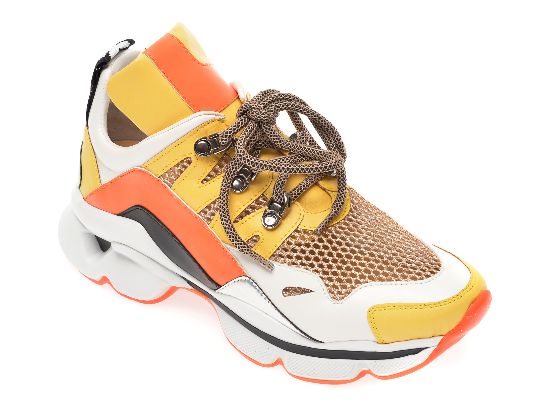 Pantofi sport GRYXX galbeni, T410, din piele ecologica imagine