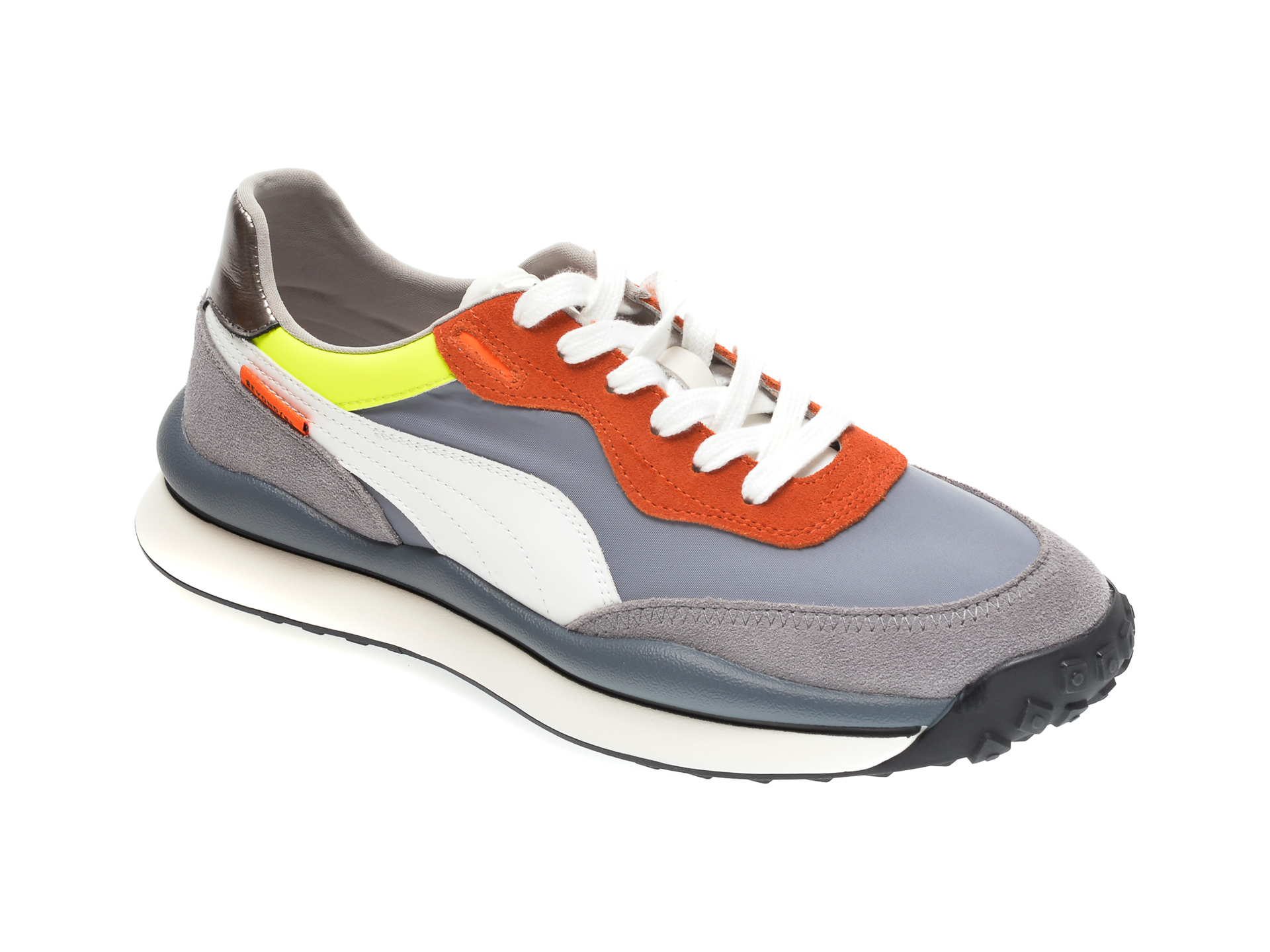 Pantofi sport GRYXX gri, 207033, din material textil si piele naturala imagine