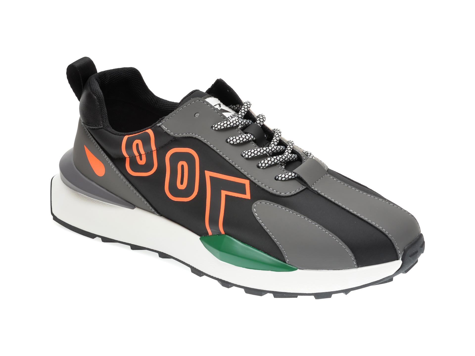 Pantofi sport GRYXX gri, B007, din material textil si piele ecologica imagine