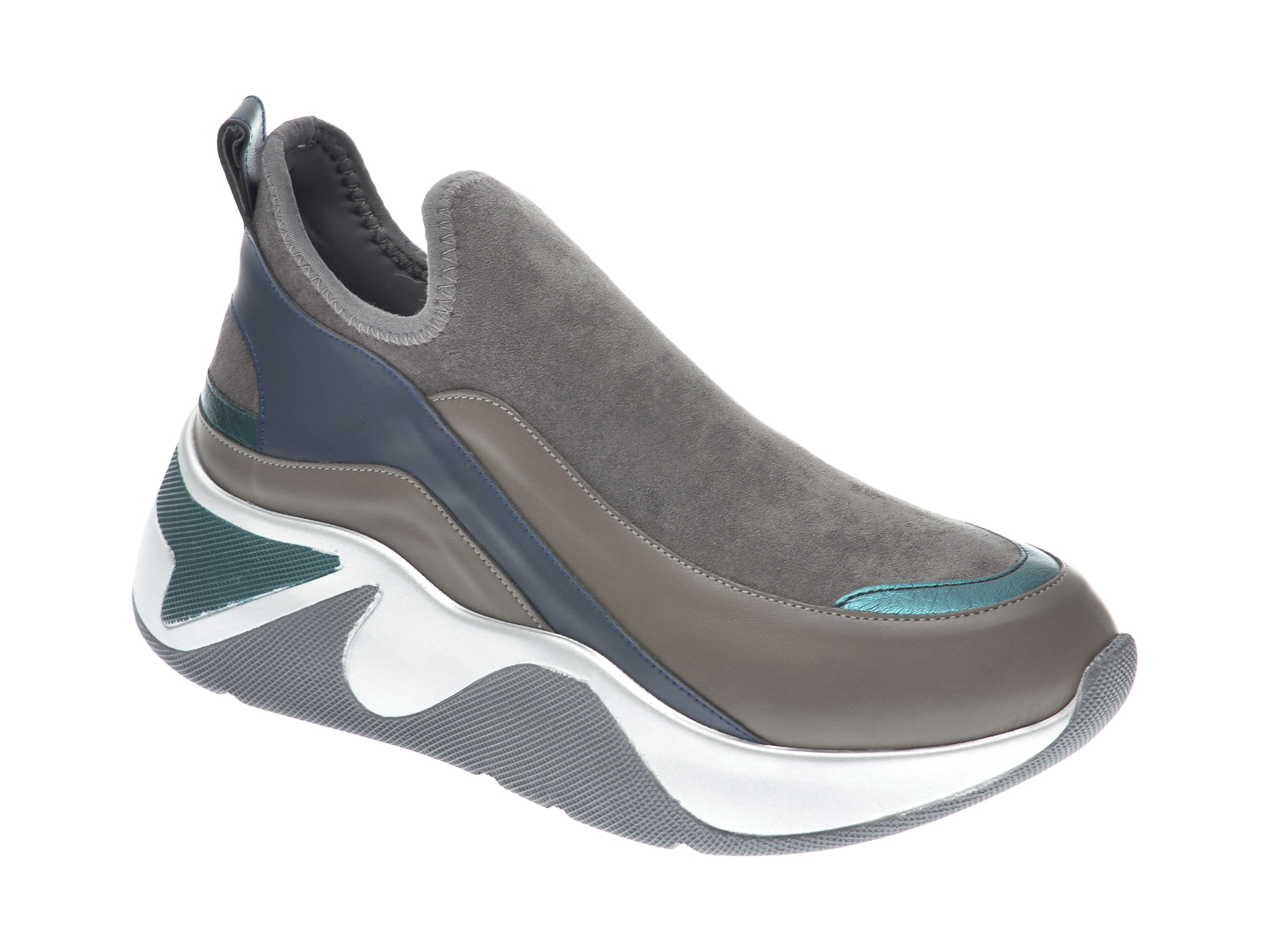 Pantofi sport GRYXX gri, MK115, din piele ecologica imagine