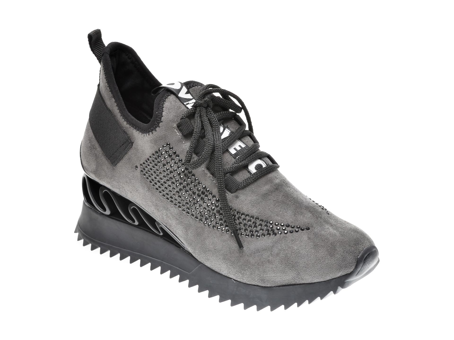 Pantofi sport GRYXX gri, MK8856, din piele ecologica