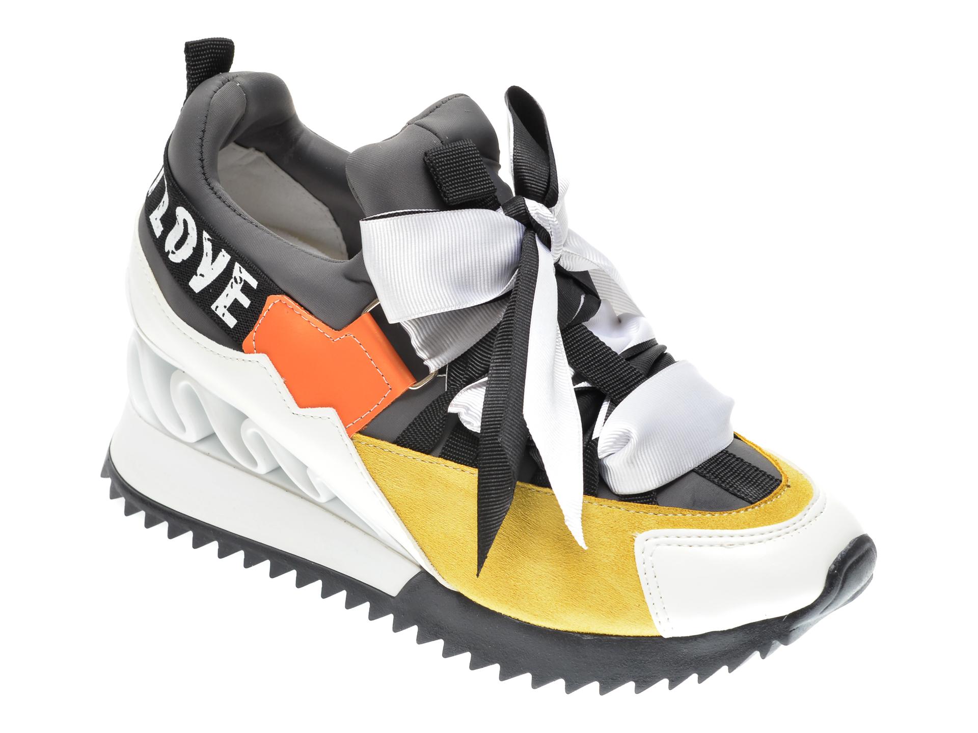 Pantofi sport GRYXX gri, MK88S19, din material textil si piele ecologica imagine