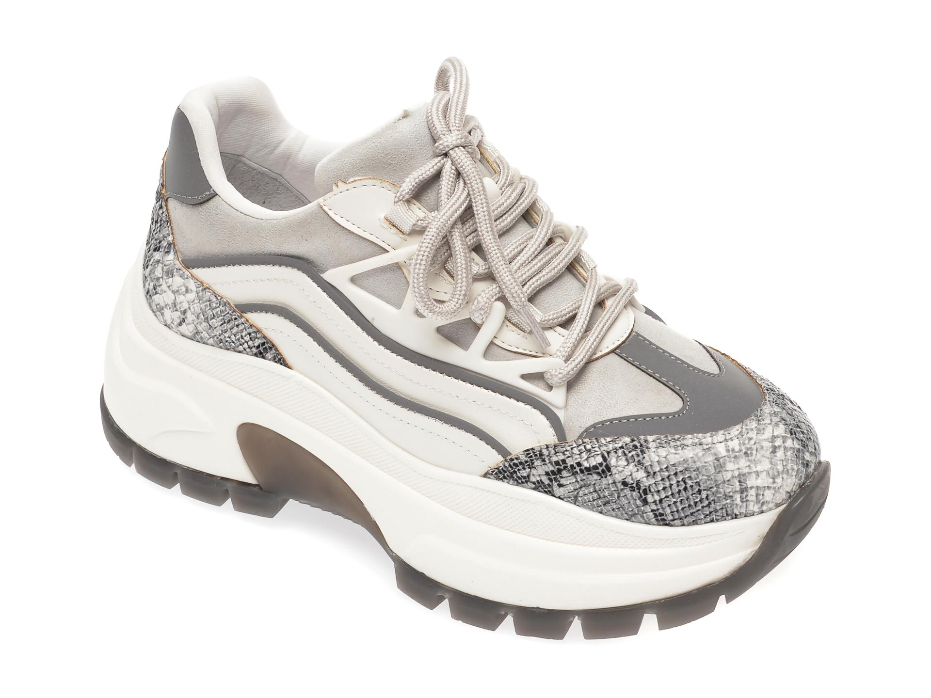 Pantofi sport GRYXX gri, MO12310, din piele ecologica imagine