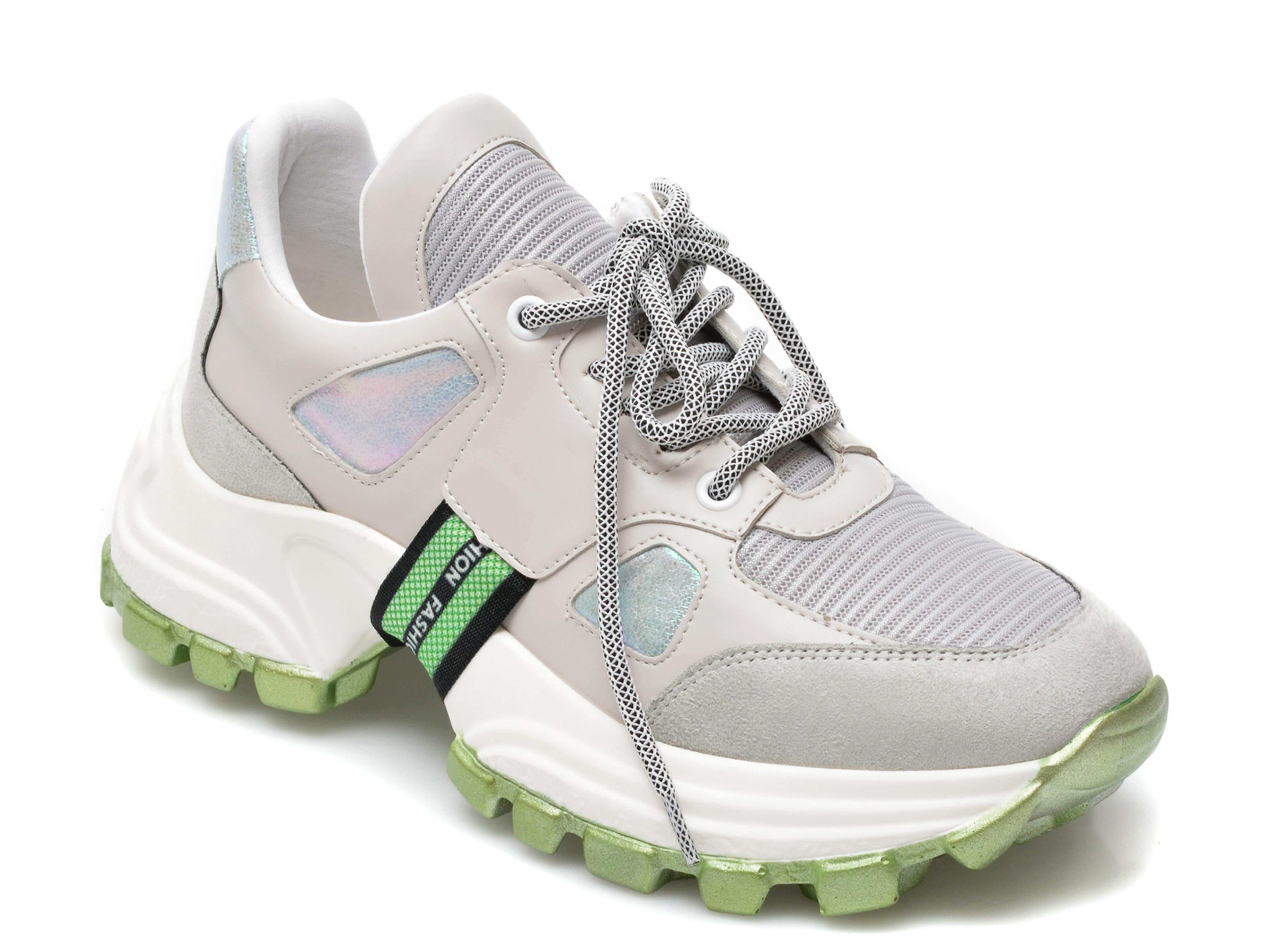 Pantofi sport GRYXX gri, MO12411, din material textil si piele ecologica imagine otter.ro 2021