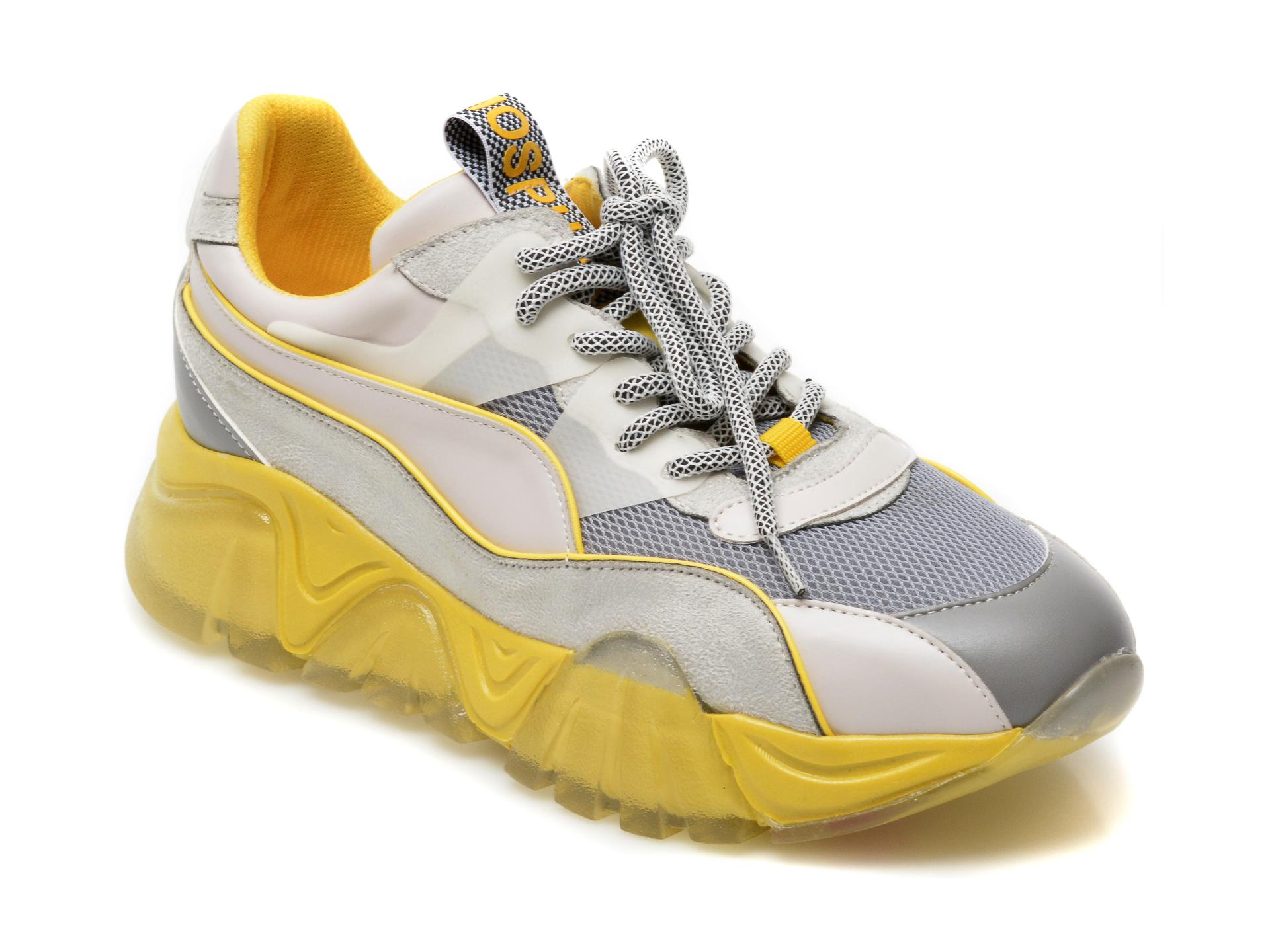 Pantofi sport GRYXX gri, T9103, din material textil si piele ecologica imagine otter.ro 2021