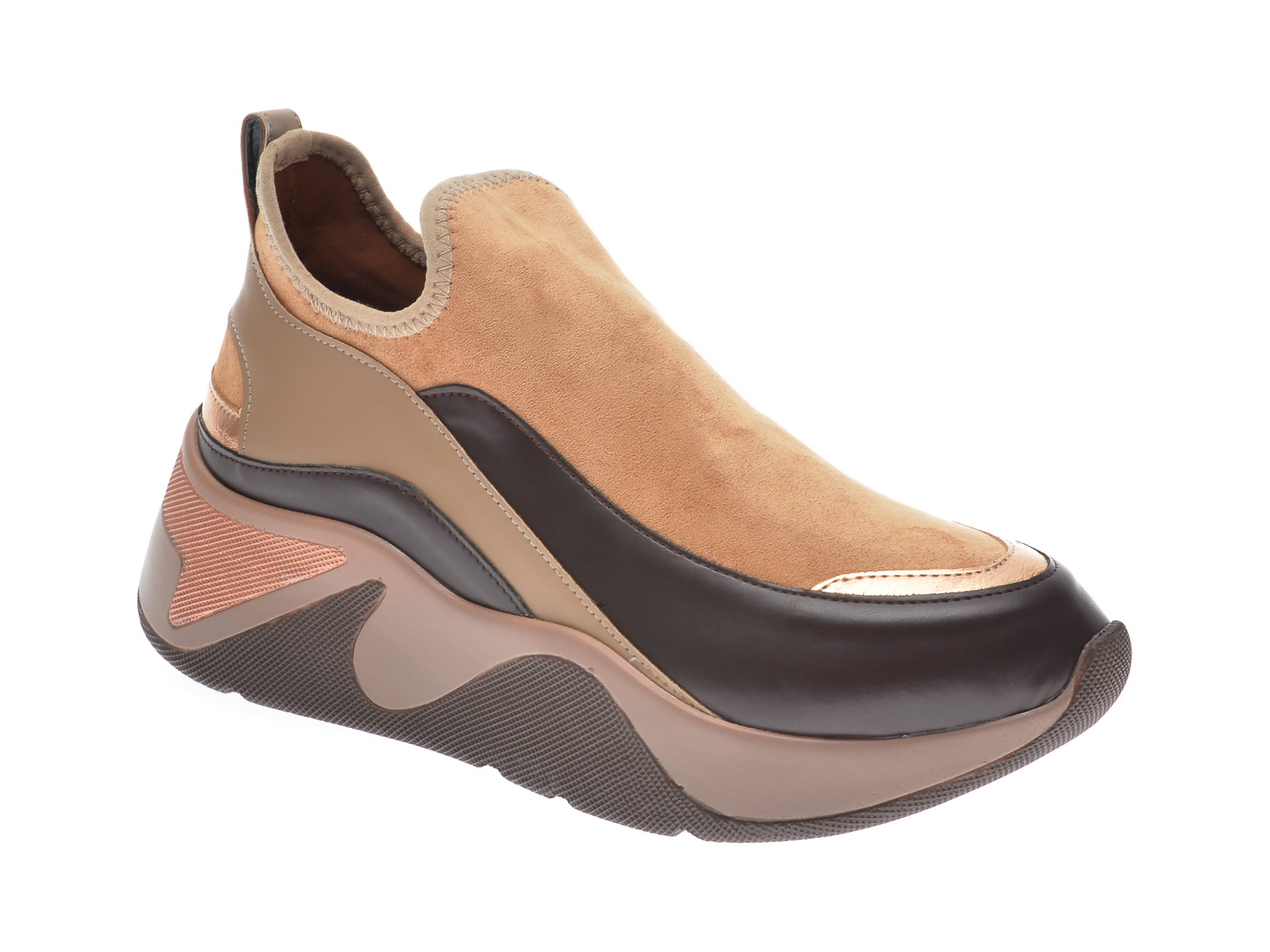 Pantofi sport GRYXX maro, MK115, din piele ecologica imagine