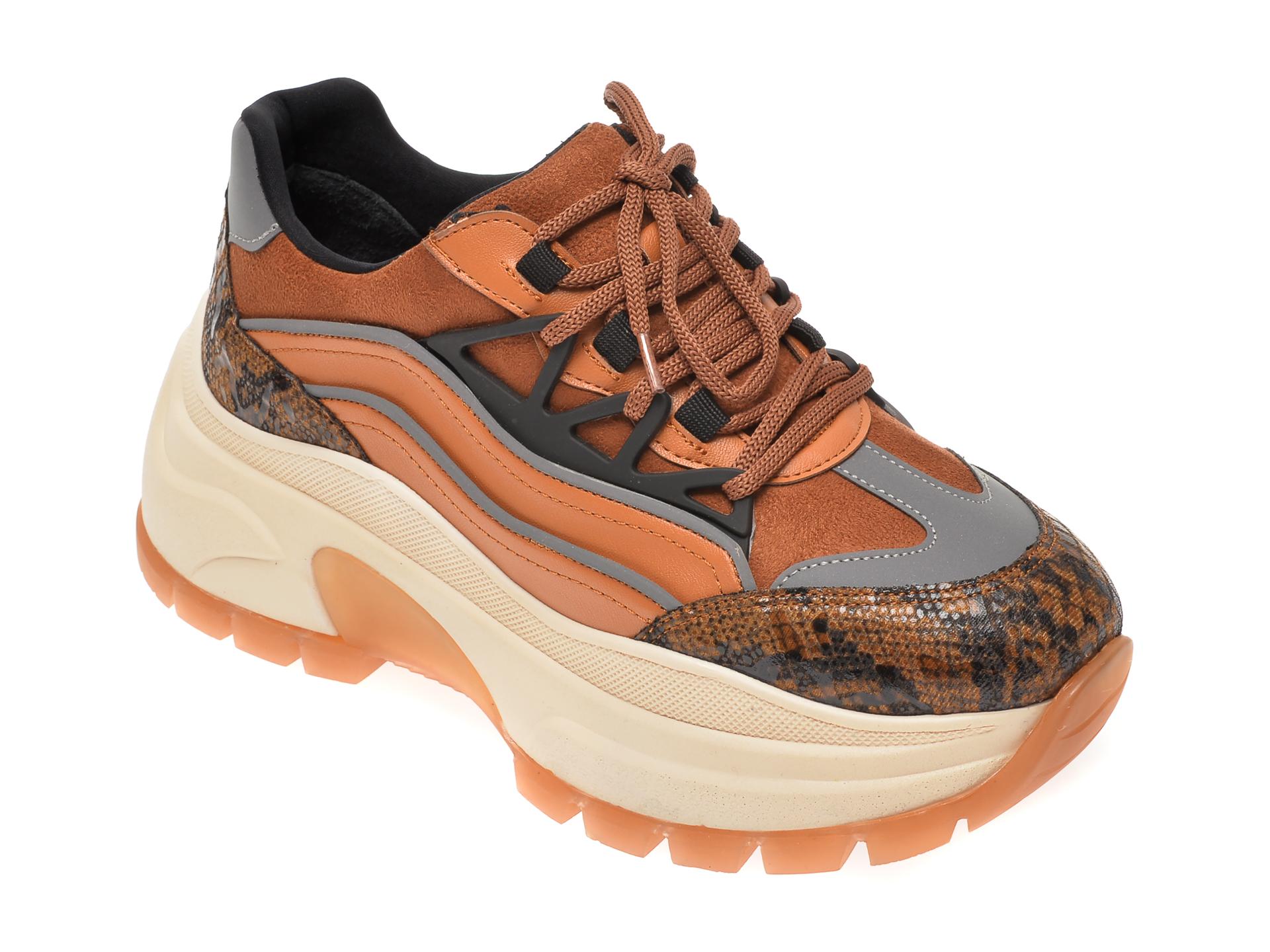 Pantofi sport GRYXX maro, MO12310, din piele ecologica