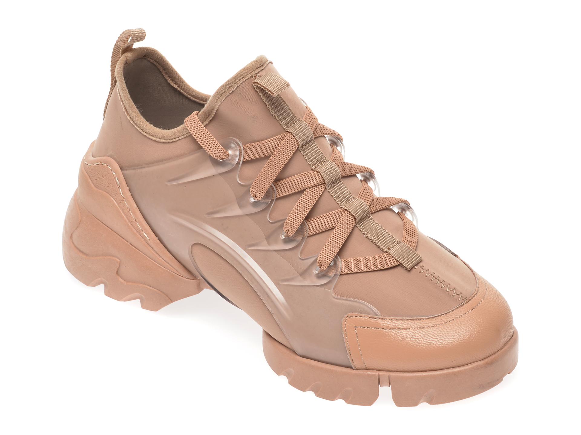 Pantofi sport GRYXX maro, MO1332, din material textil si piele ecologica imagine