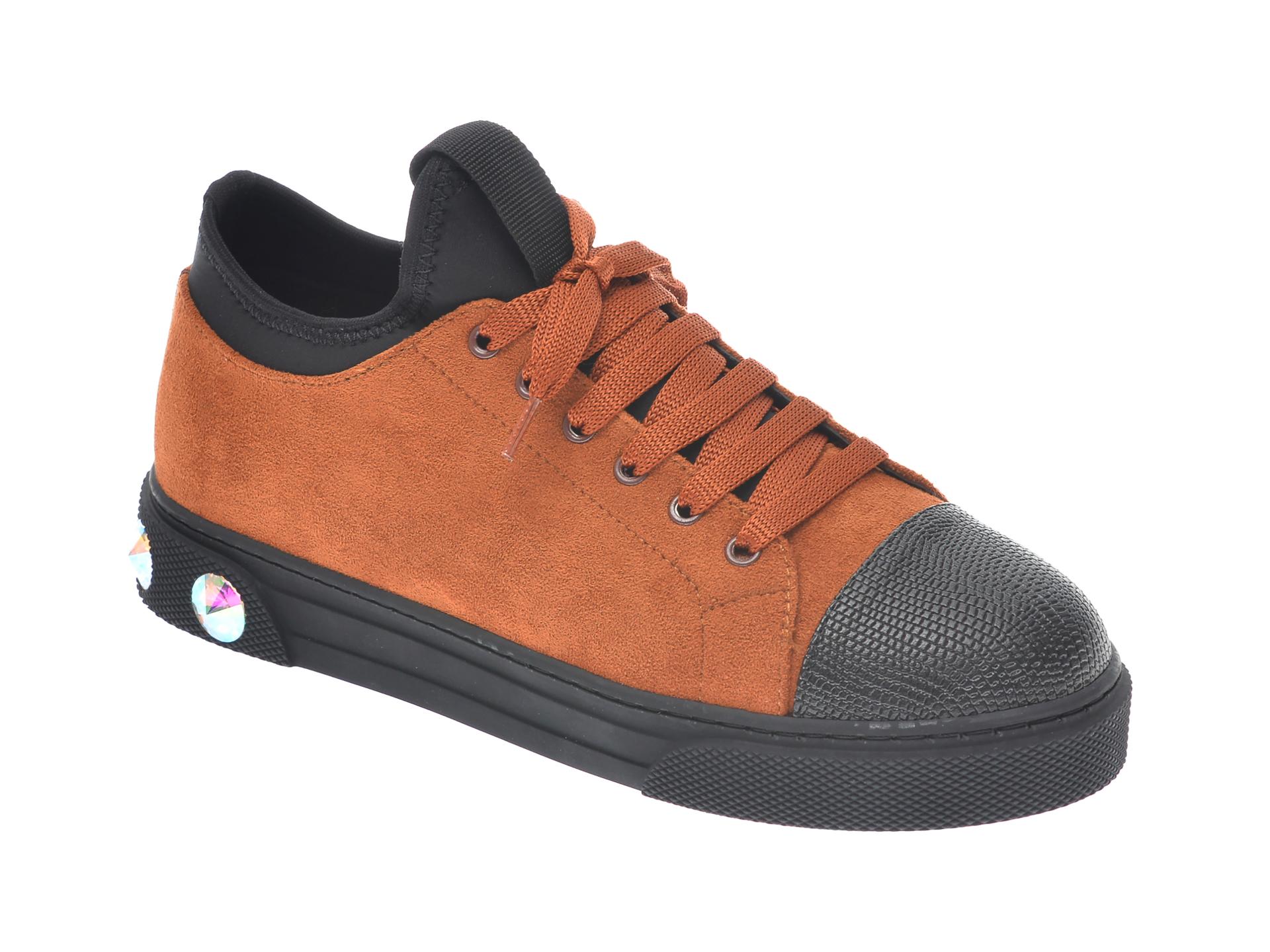 Pantofi sport GRYXX maro, T205, din material textil si piele ecologica imagine