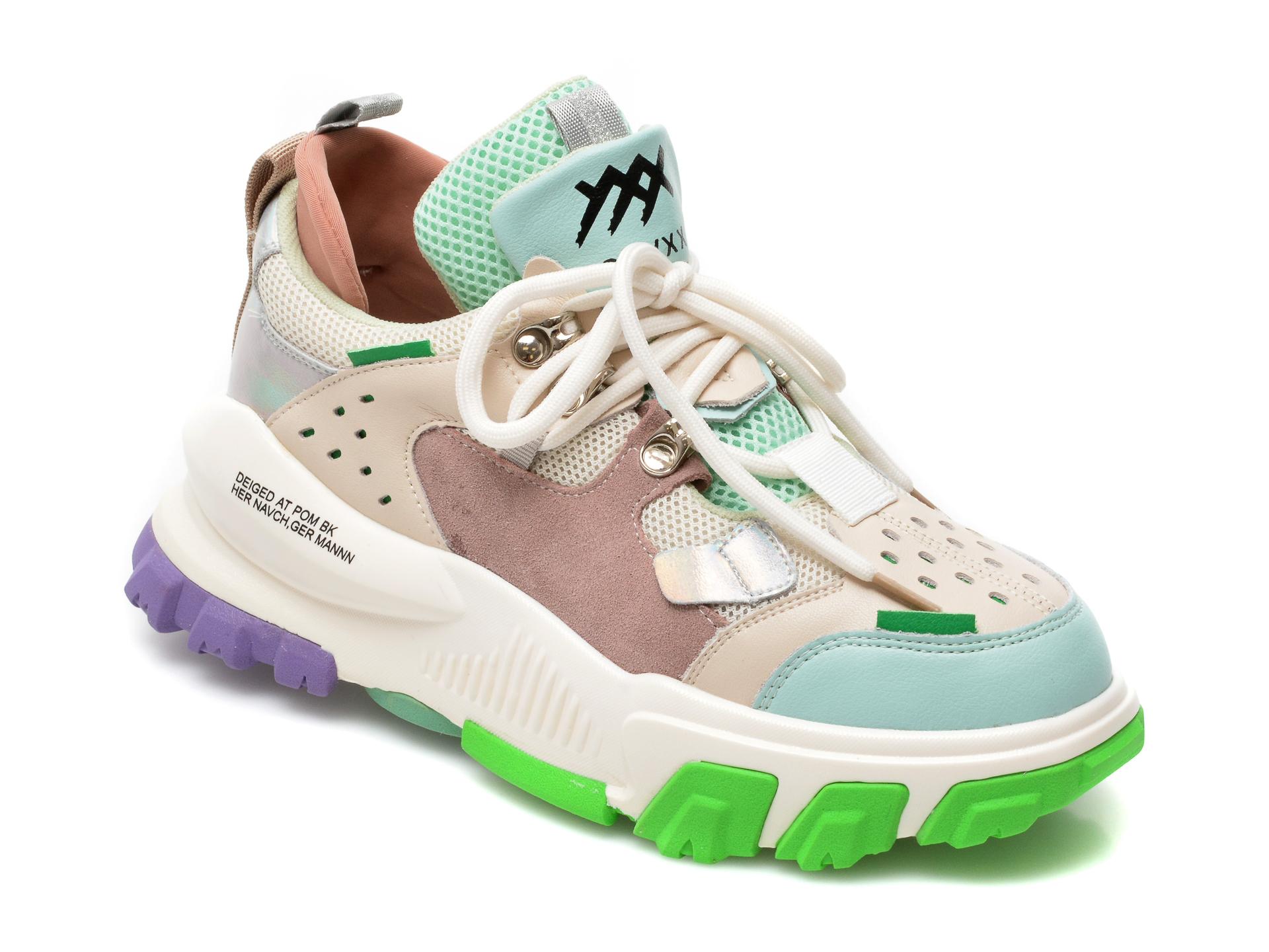 Pantofi sport GRYXX multicolori, K3, din material textil si piele naturala imagine otter.ro 2021