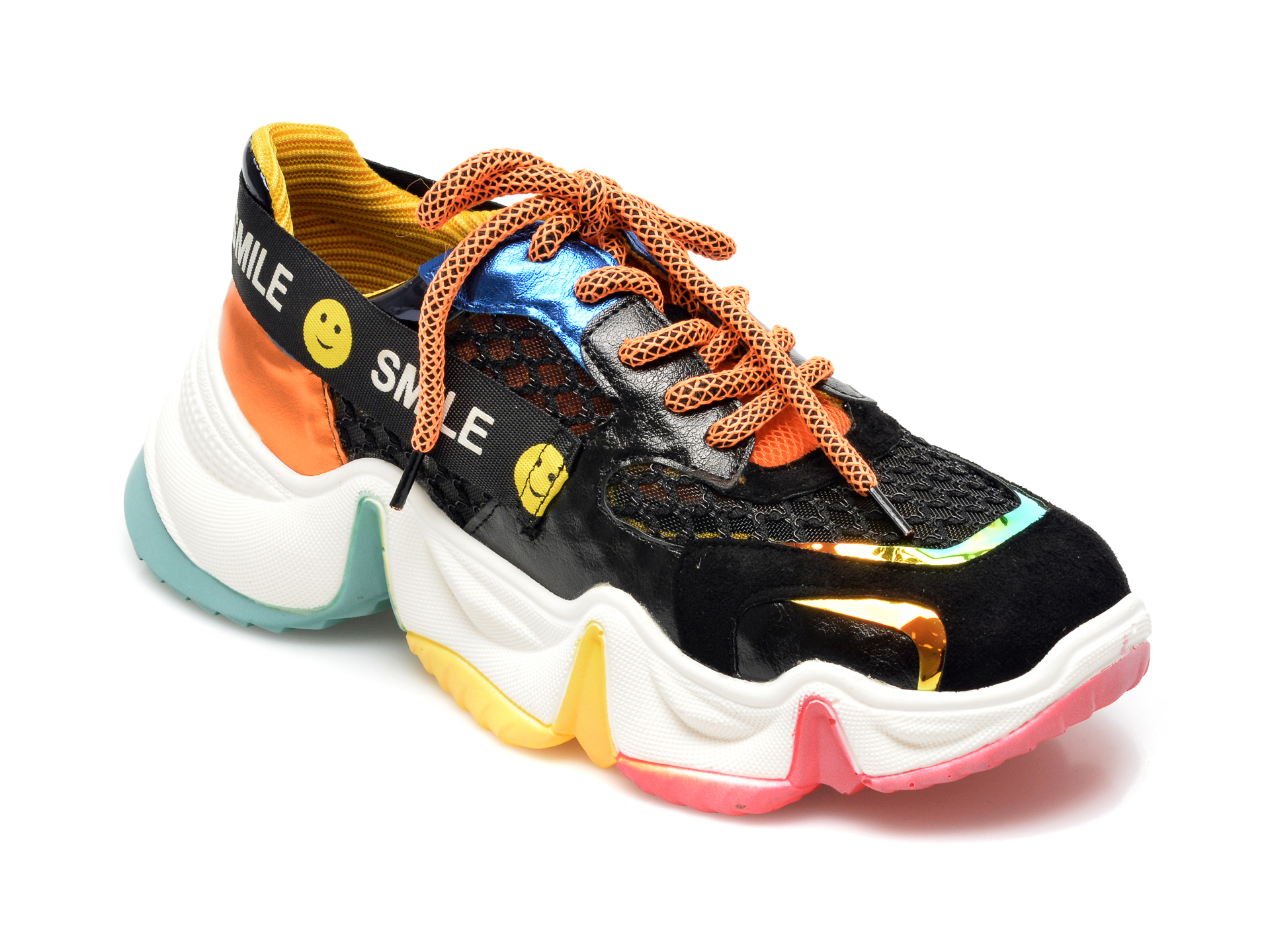 Pantofi sport GRYXX multicolori, MO1533, din material textil si piele ecologica imagine otter.ro