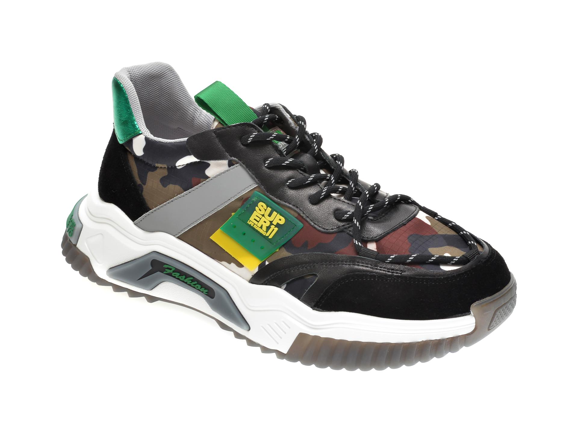 Pantofi sport GRYXX negri, 207051, din material textil si piele naturala imagine