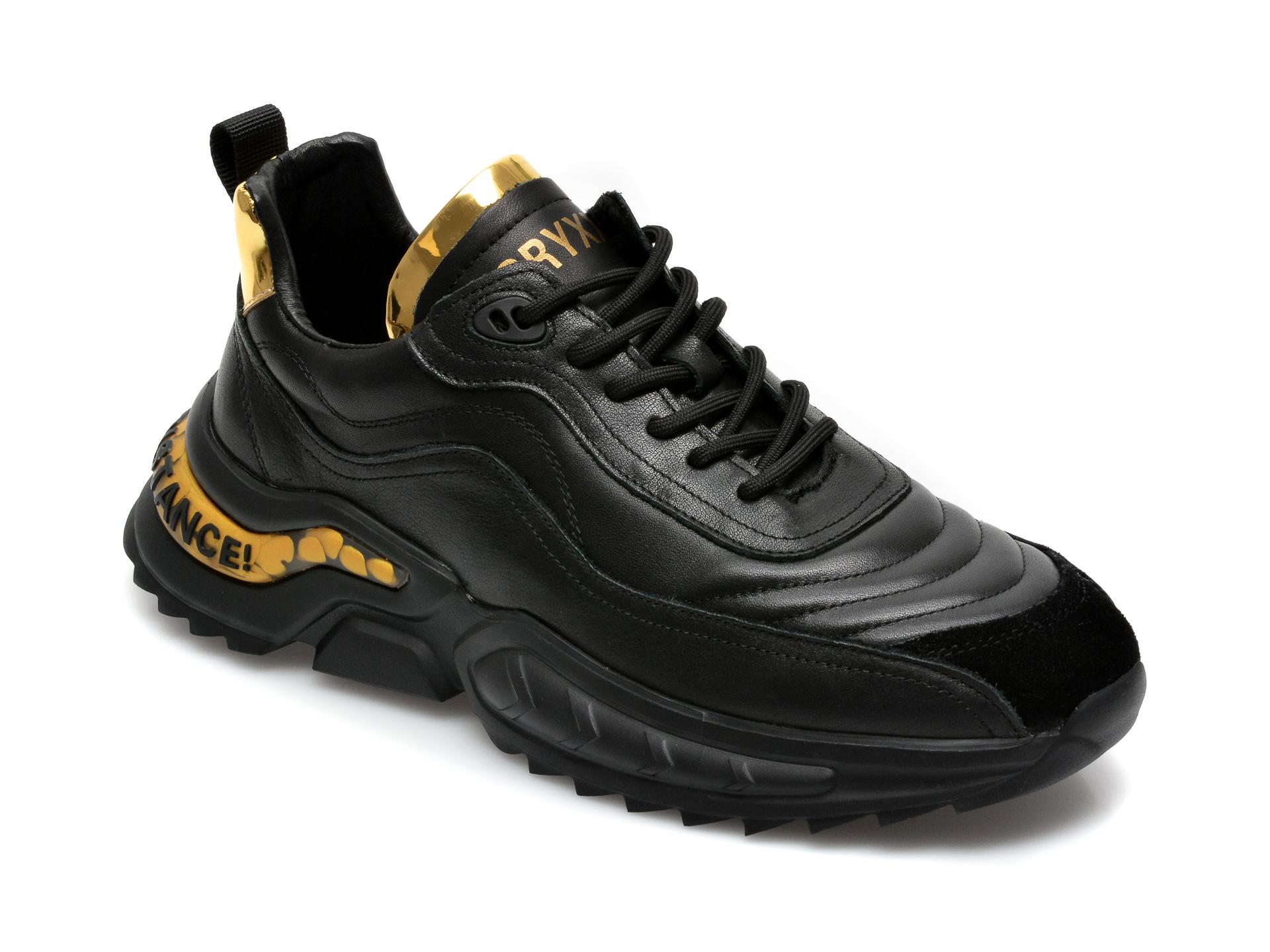 Pantofi sport GRYXX negri, 207201, din piele naturala imagine