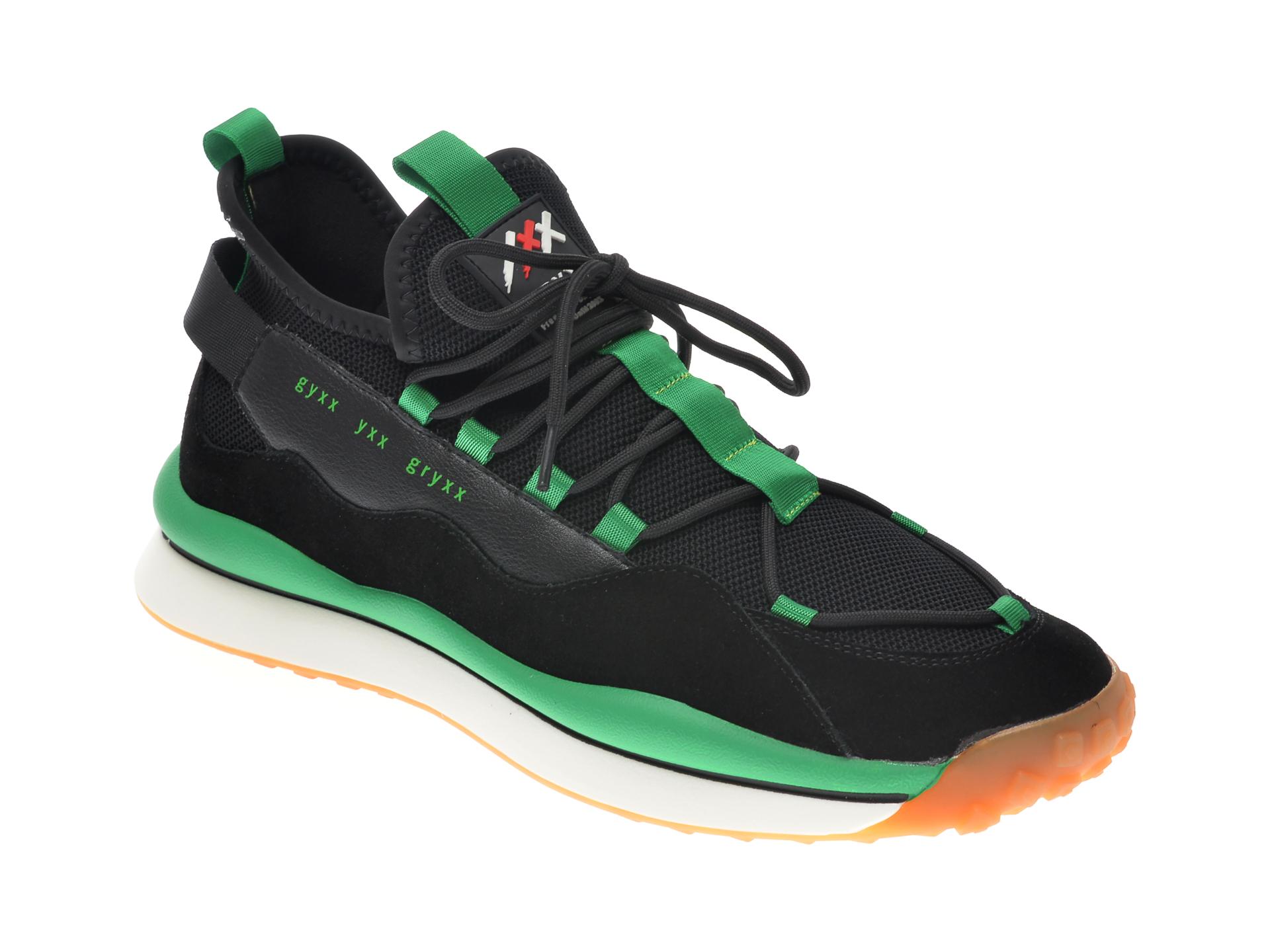 Pantofi sport GRYXX negri, 207236, din material textil si piele naturala imagine
