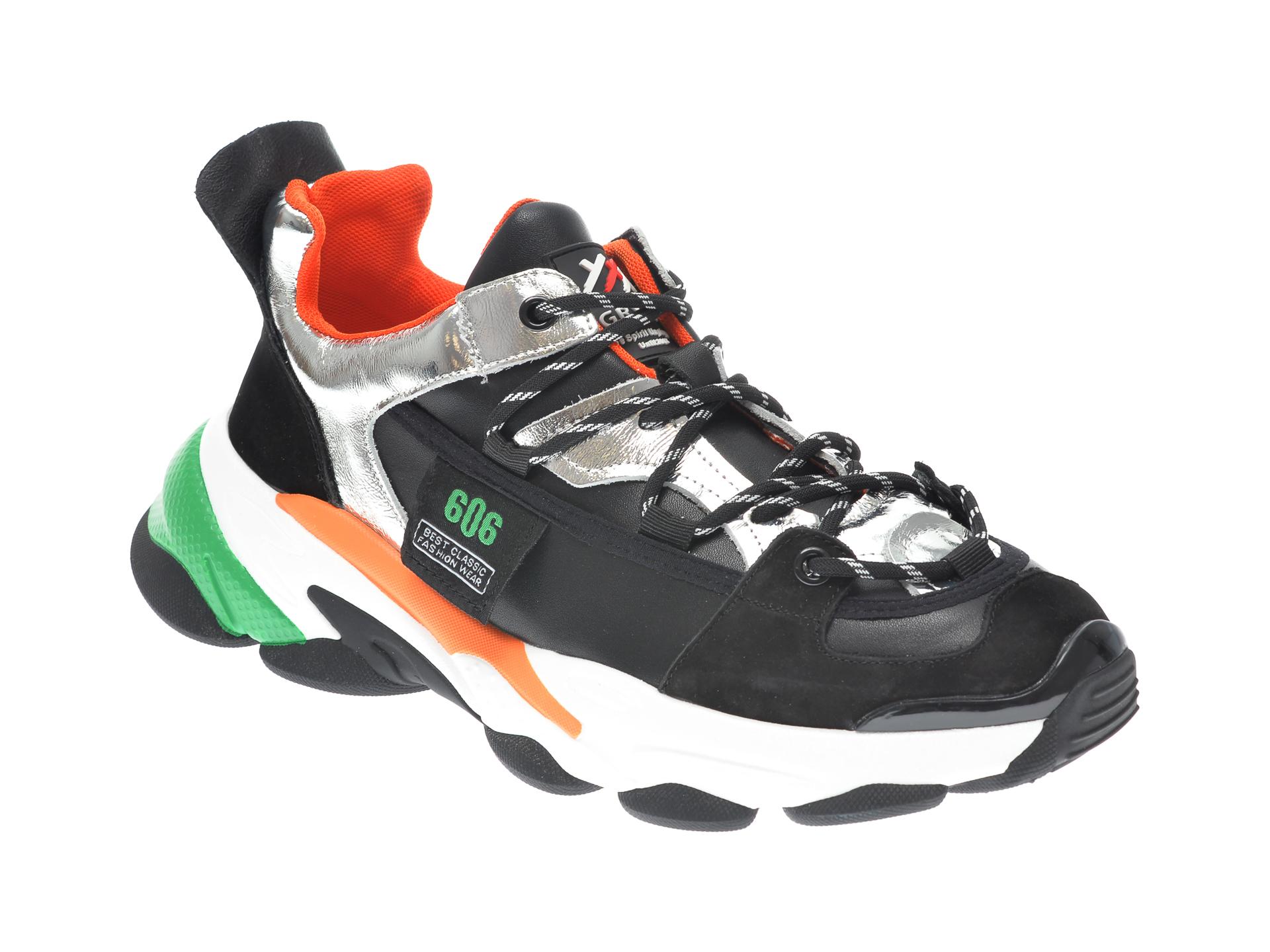 Pantofi sport GRYXX negri, 207261, din piele naturala imagine
