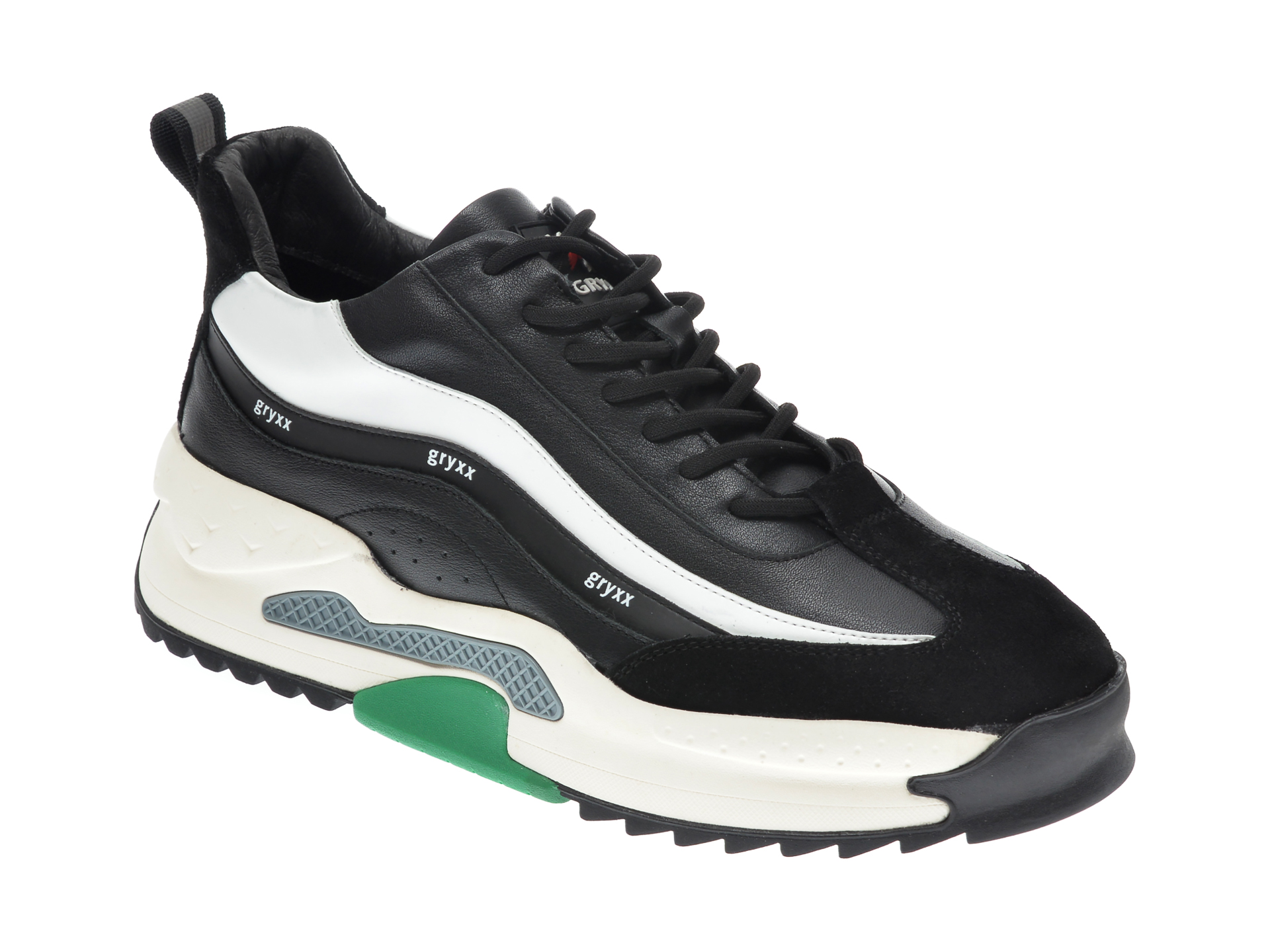 Pantofi sport GRYXX negri, 207291, din piele naturala imagine