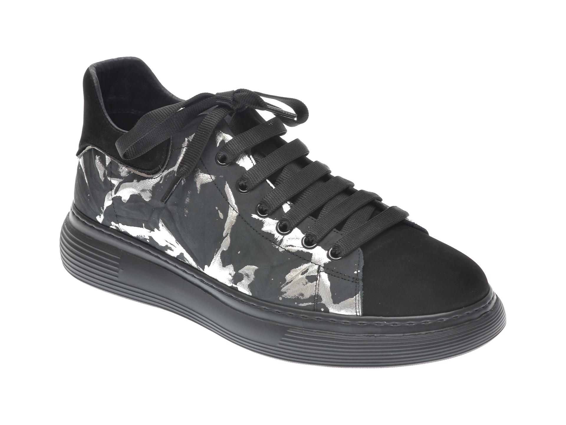 Pantofi sport GRYXX negri, 207322, din piele naturala imagine