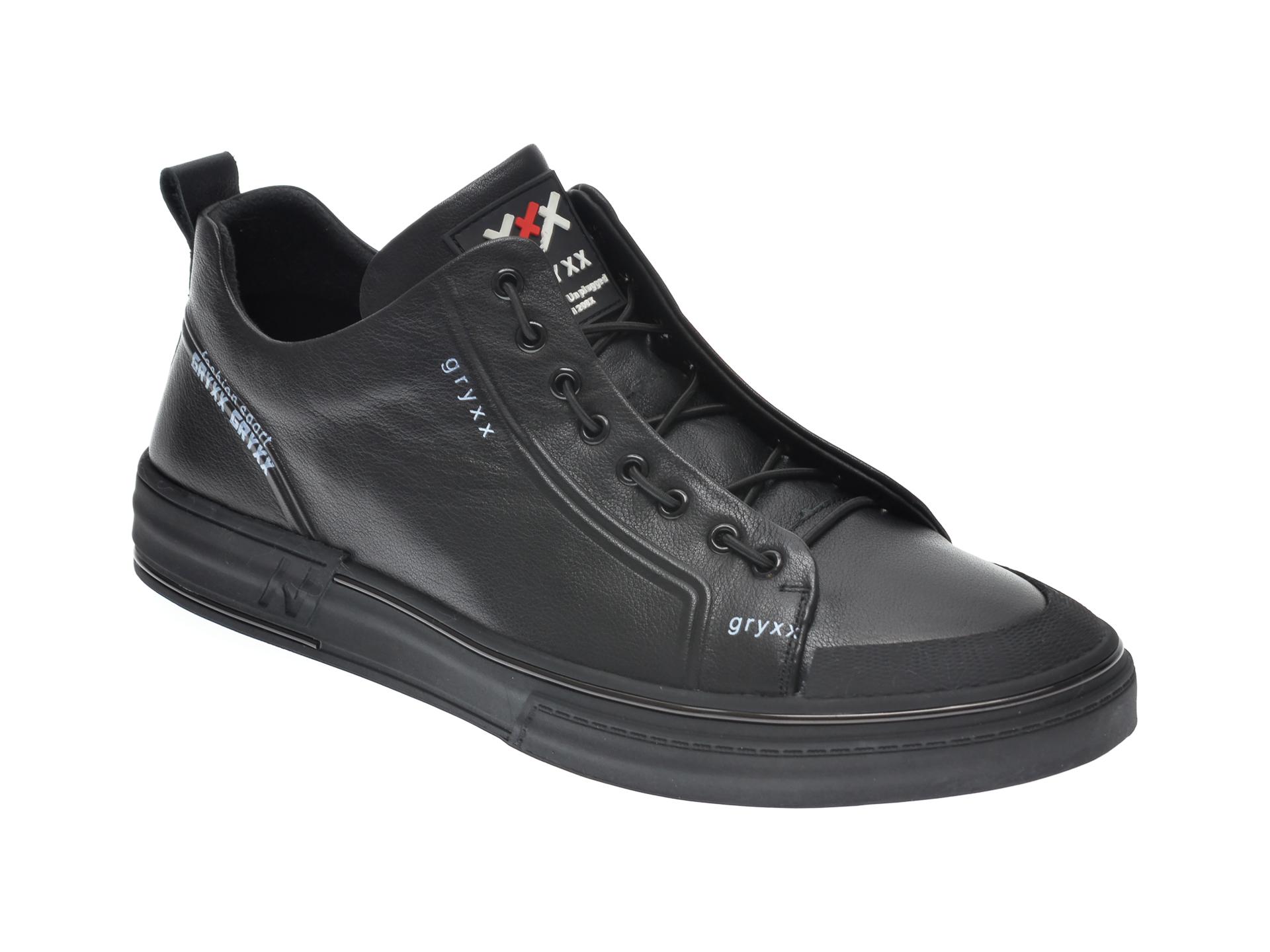 Pantofi sport GRYXX negri, 208261, din piele naturala imagine