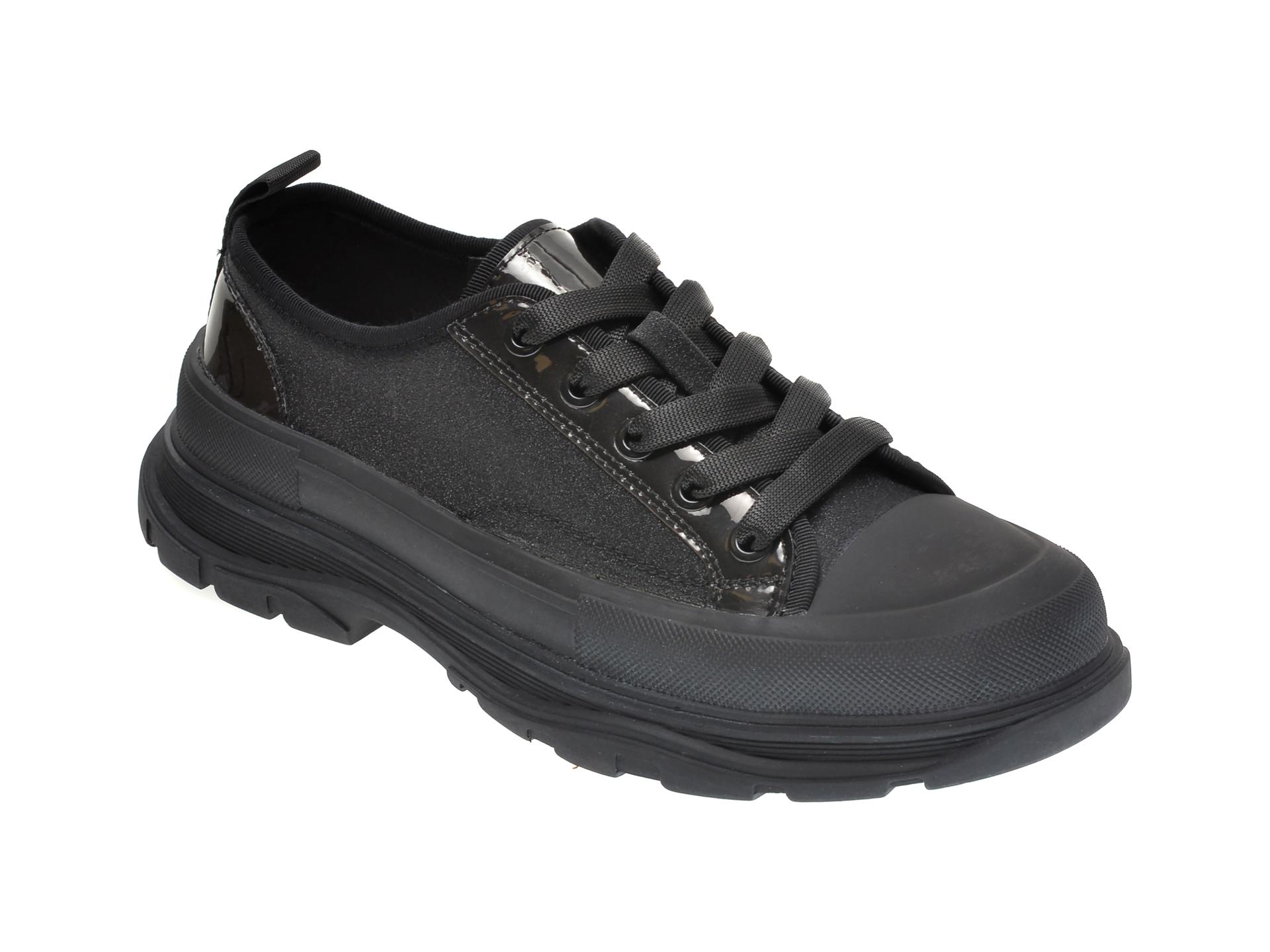 Pantofi sport GRYXX negri, 30016, din material textil