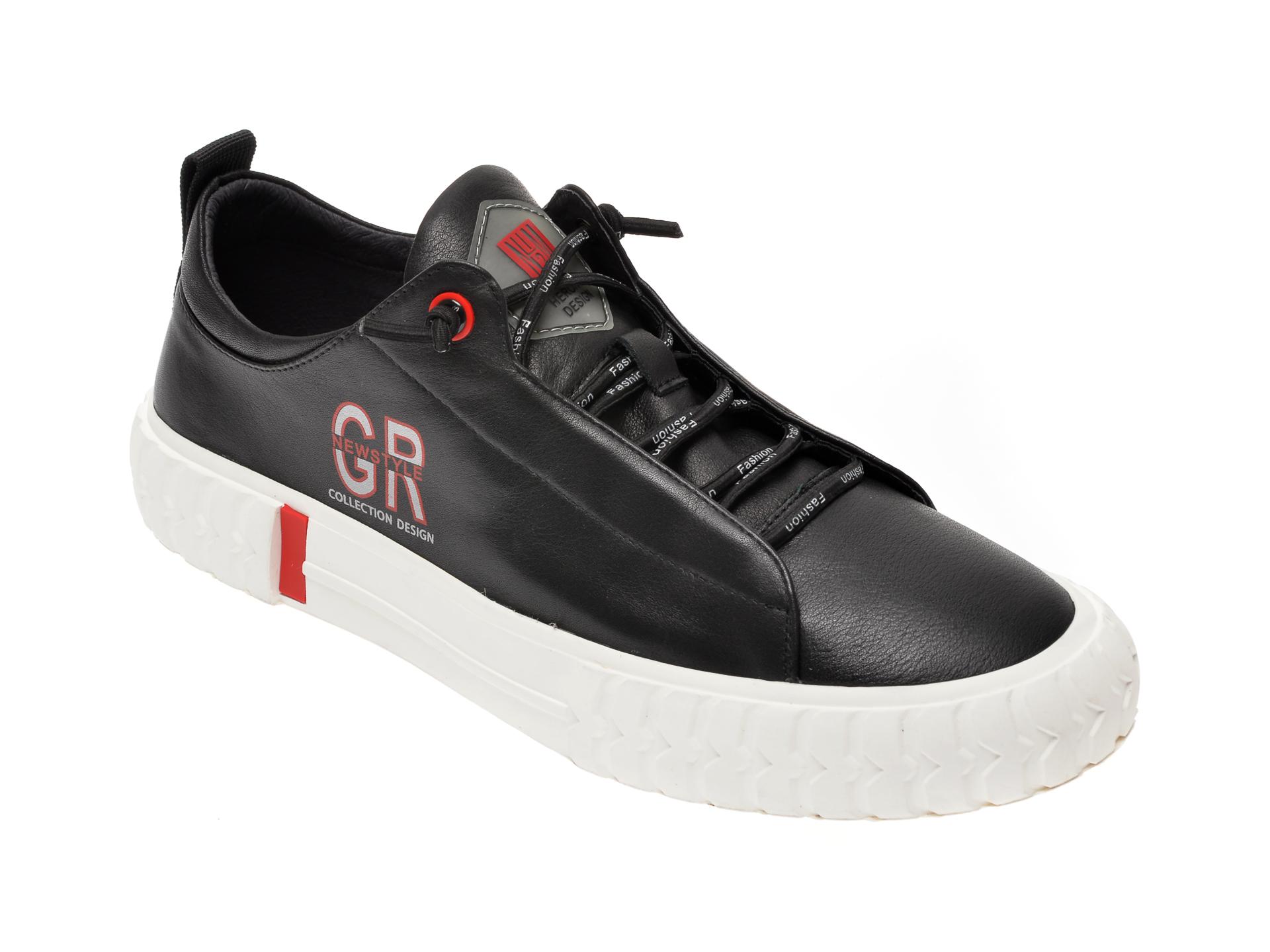 Pantofi sport GRYXX negri, 5001, din piele naturala imagine