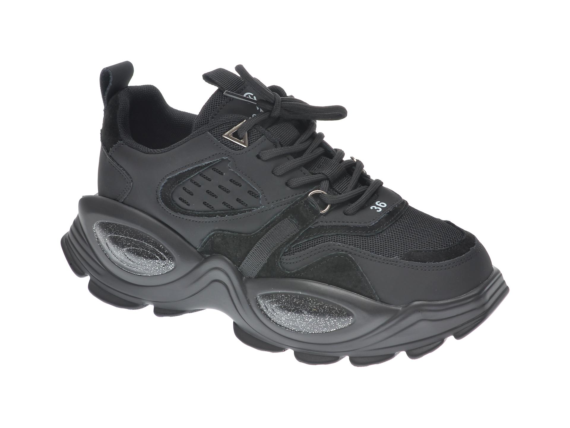 Pantofi sport GRYXX negri, 60151, din material textil imagine