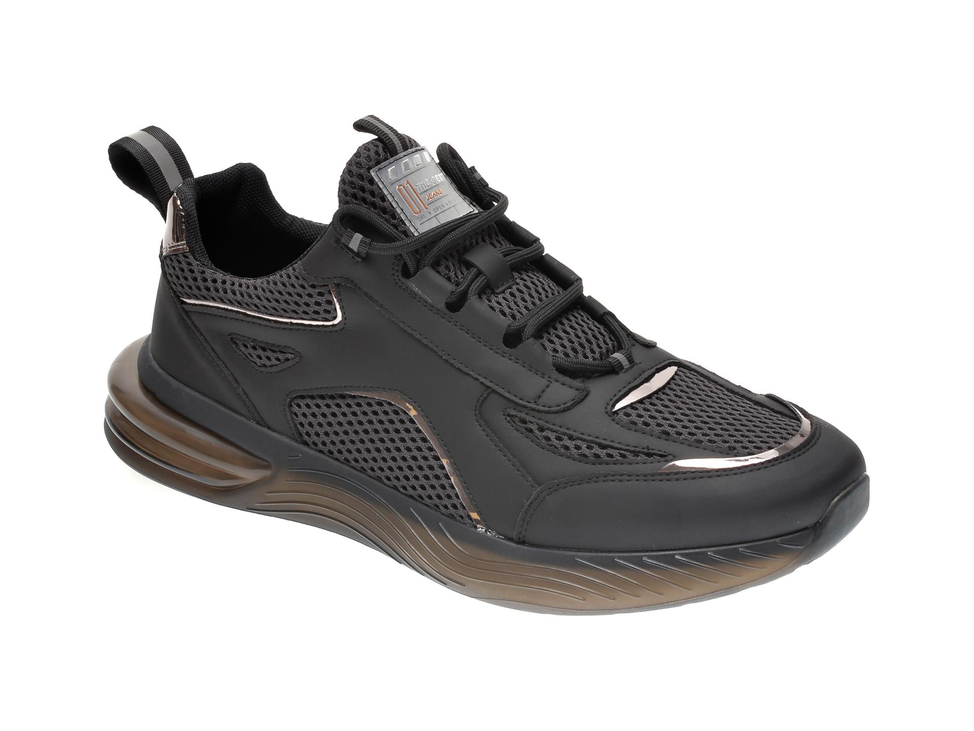 Pantofi sport GRYXX negri, 81021, din material textil imagine