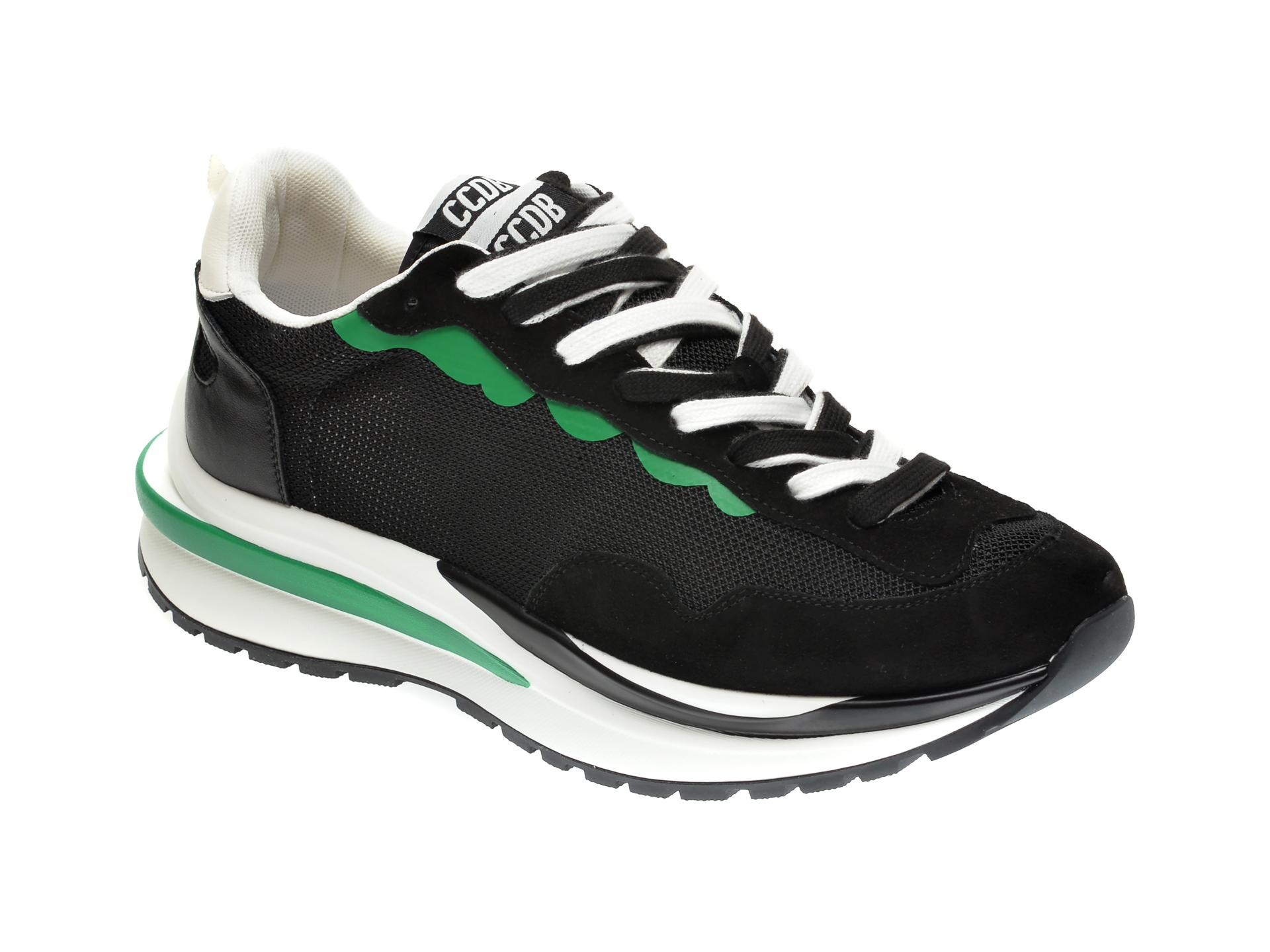Pantofi sport GRYXX negri, 81071, din material textil si piele intoarsa imagine