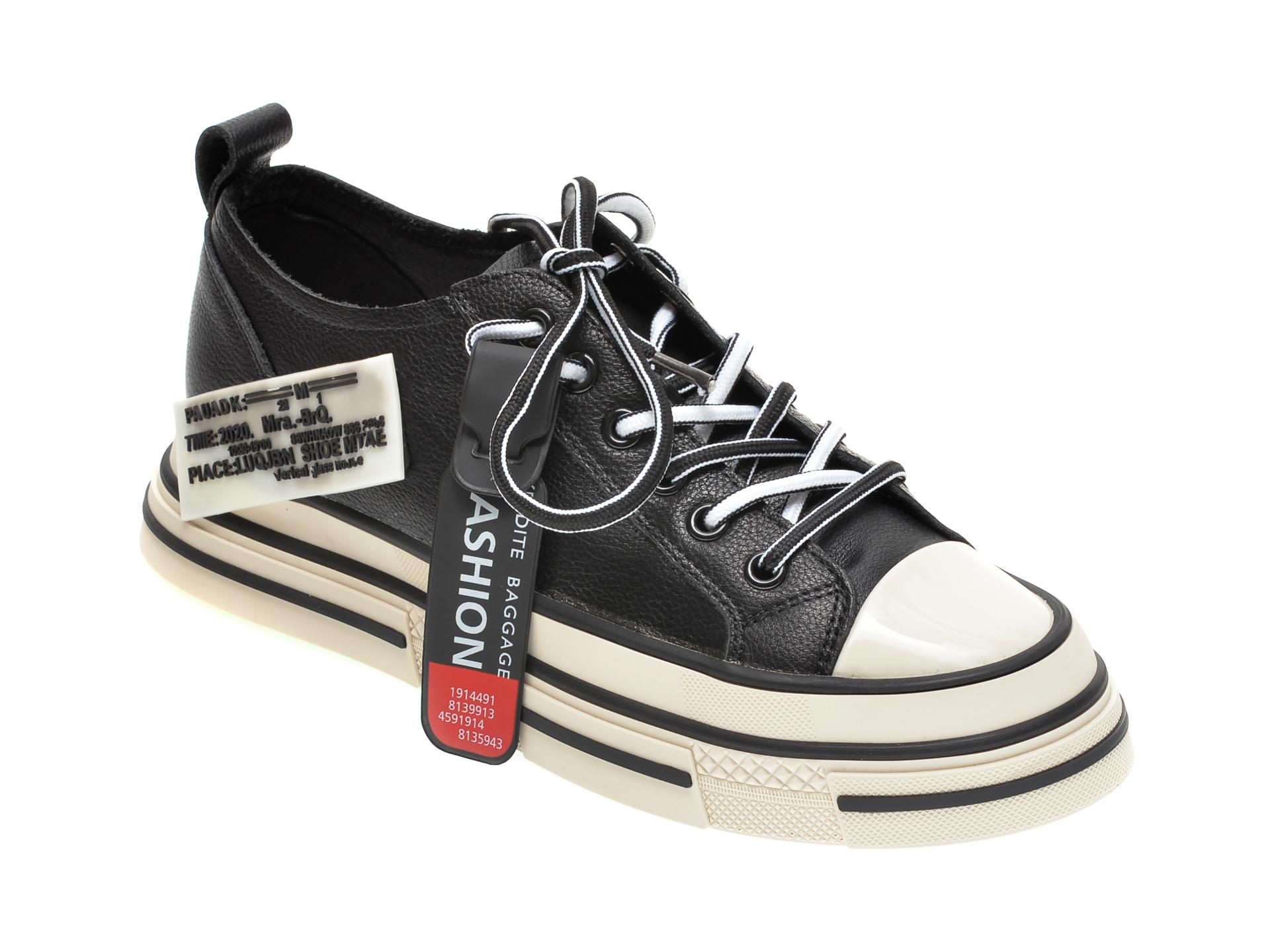 Pantofi sport GRYXX negri, C2021, din piele naturala imagine