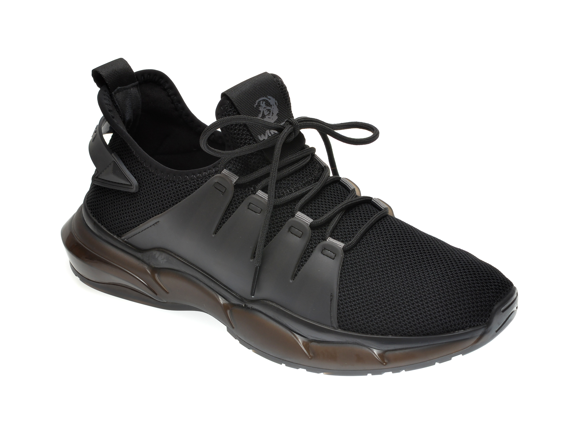 Pantofi sport GRYXX negri, D30979, din material textil imagine