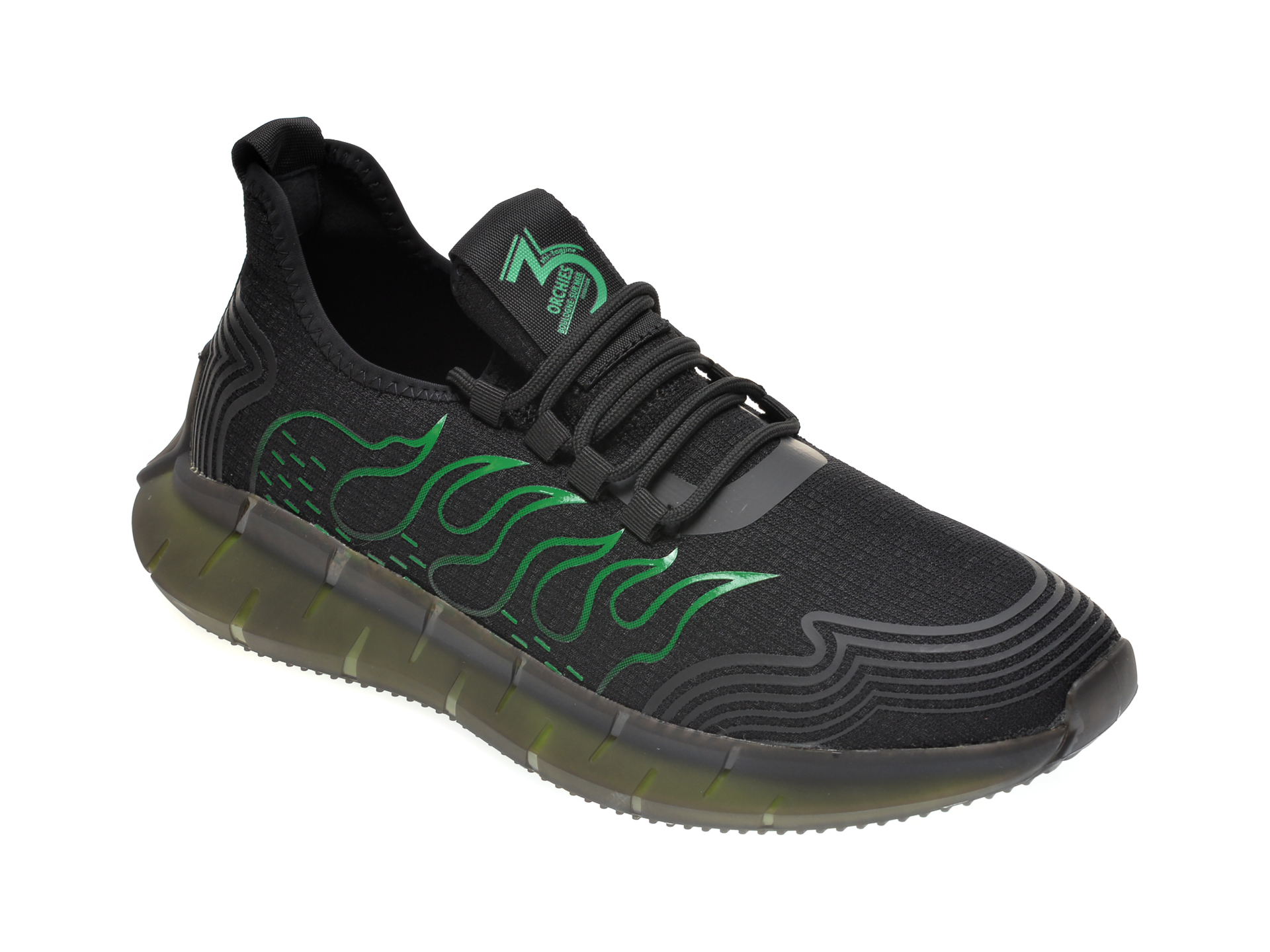 Pantofi sport GRYXX negri, E30702, din material textil imagine