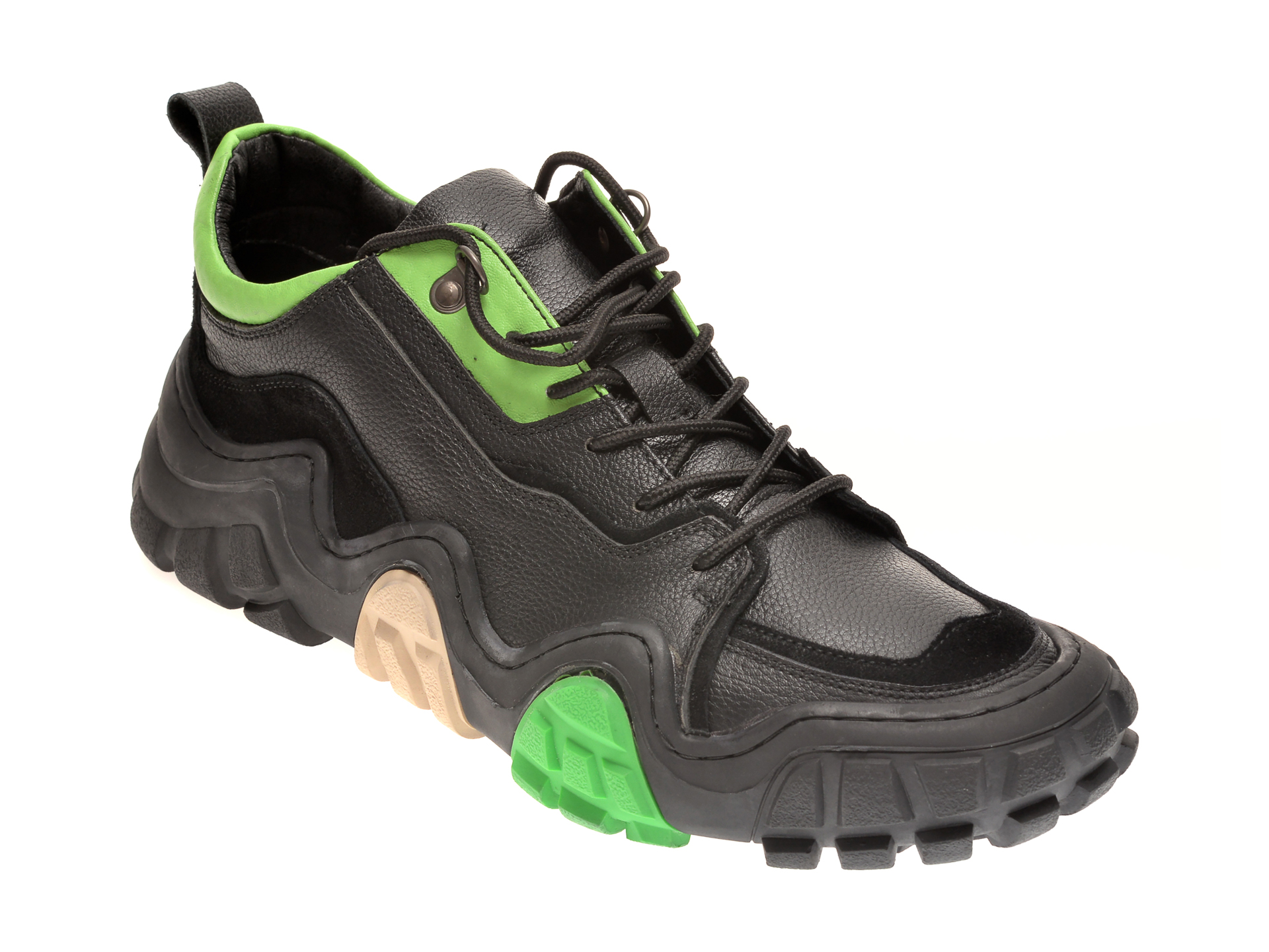 Pantofi sport GRYXX negri, G078311, din piele naturala imagine otter.ro