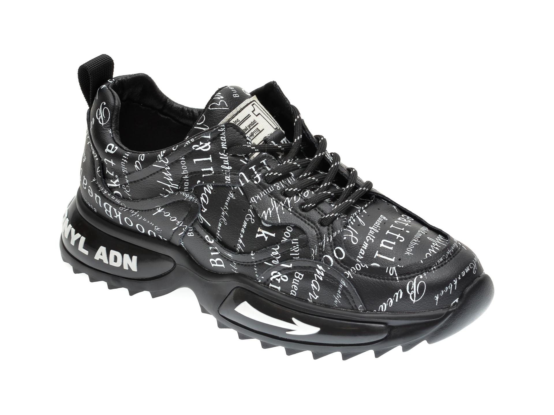 Pantofi sport GRYXX negri, H1151, din piele naturala imagine