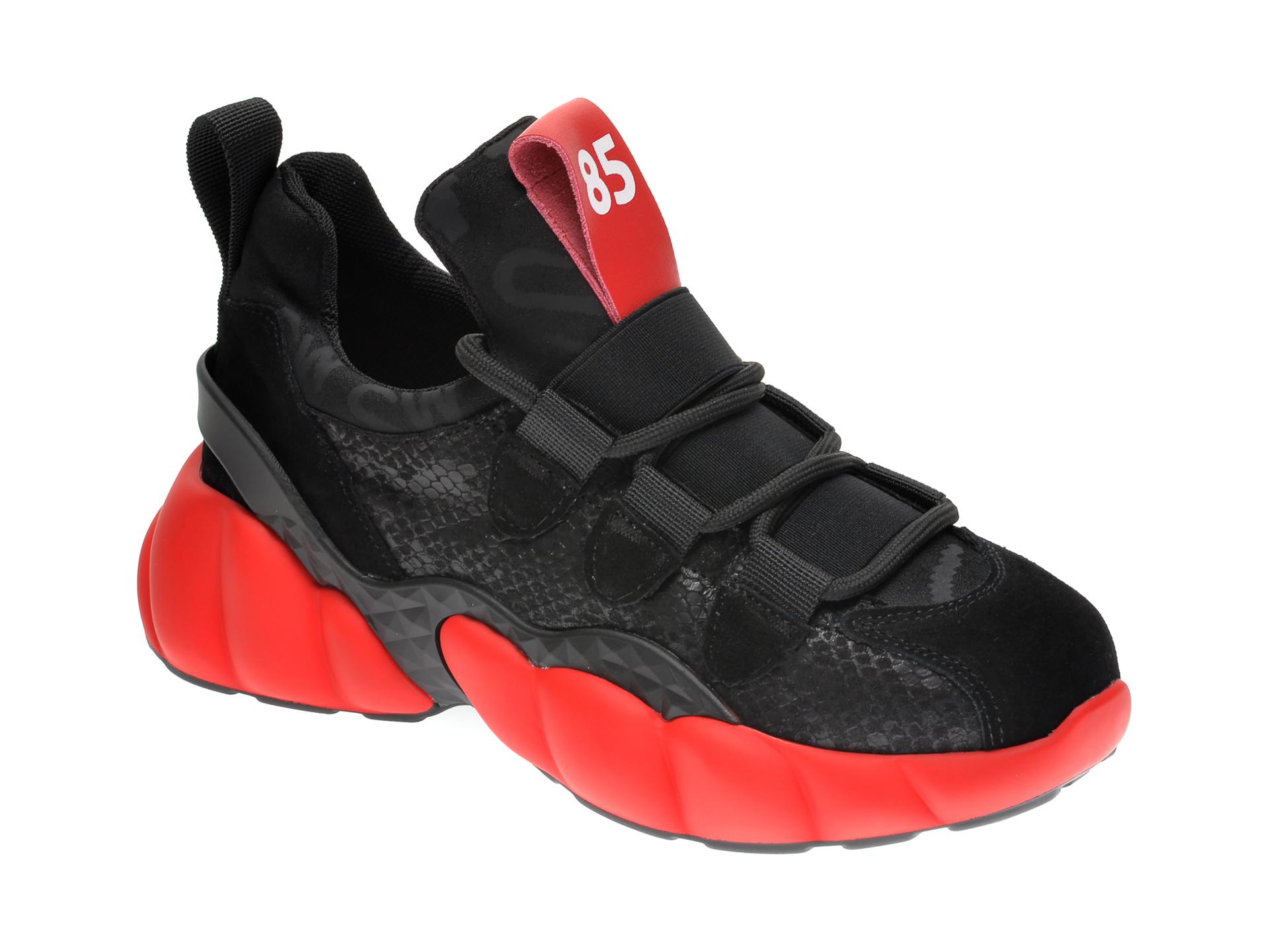 Pantofi sport GRYXX negri, H1153, din material textil si piele intoarsa