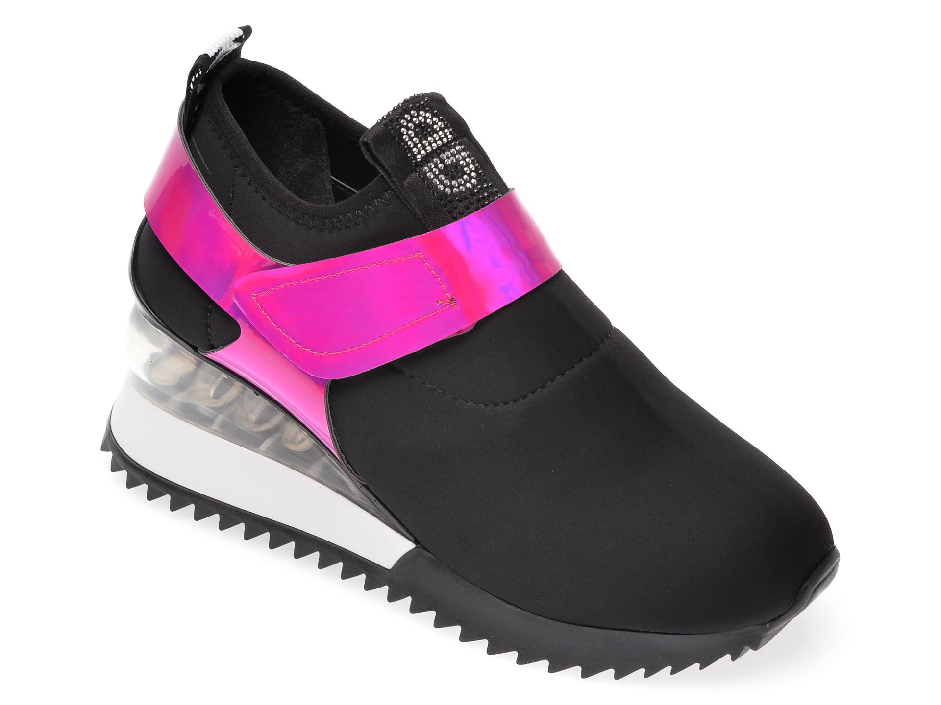 Pantofi sport GRYXX negri, MK8813, din material textil si piele ecologica imagine