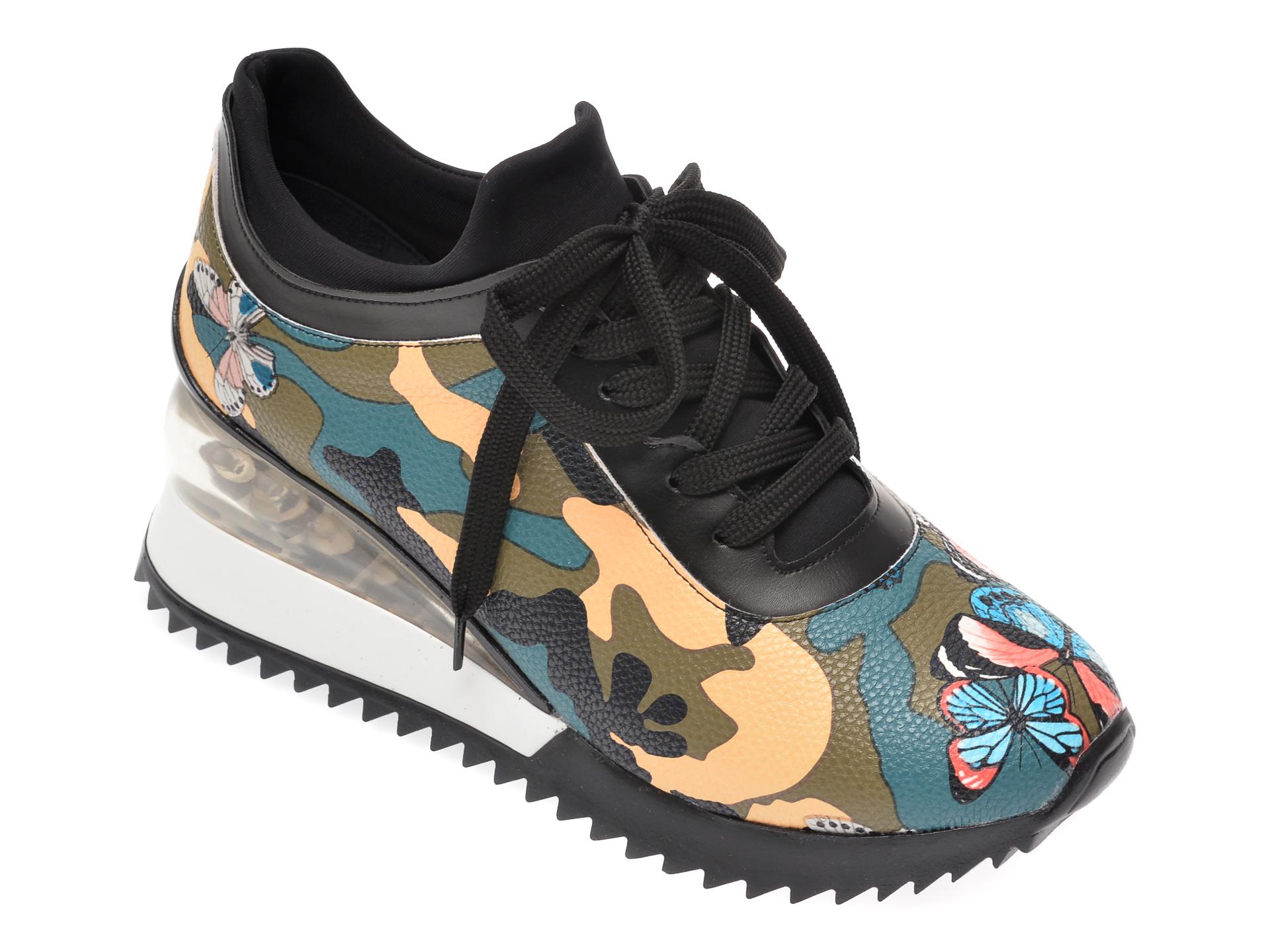 Pantofi sport GRYXX negri, MK882, din material textil si piele ecologica