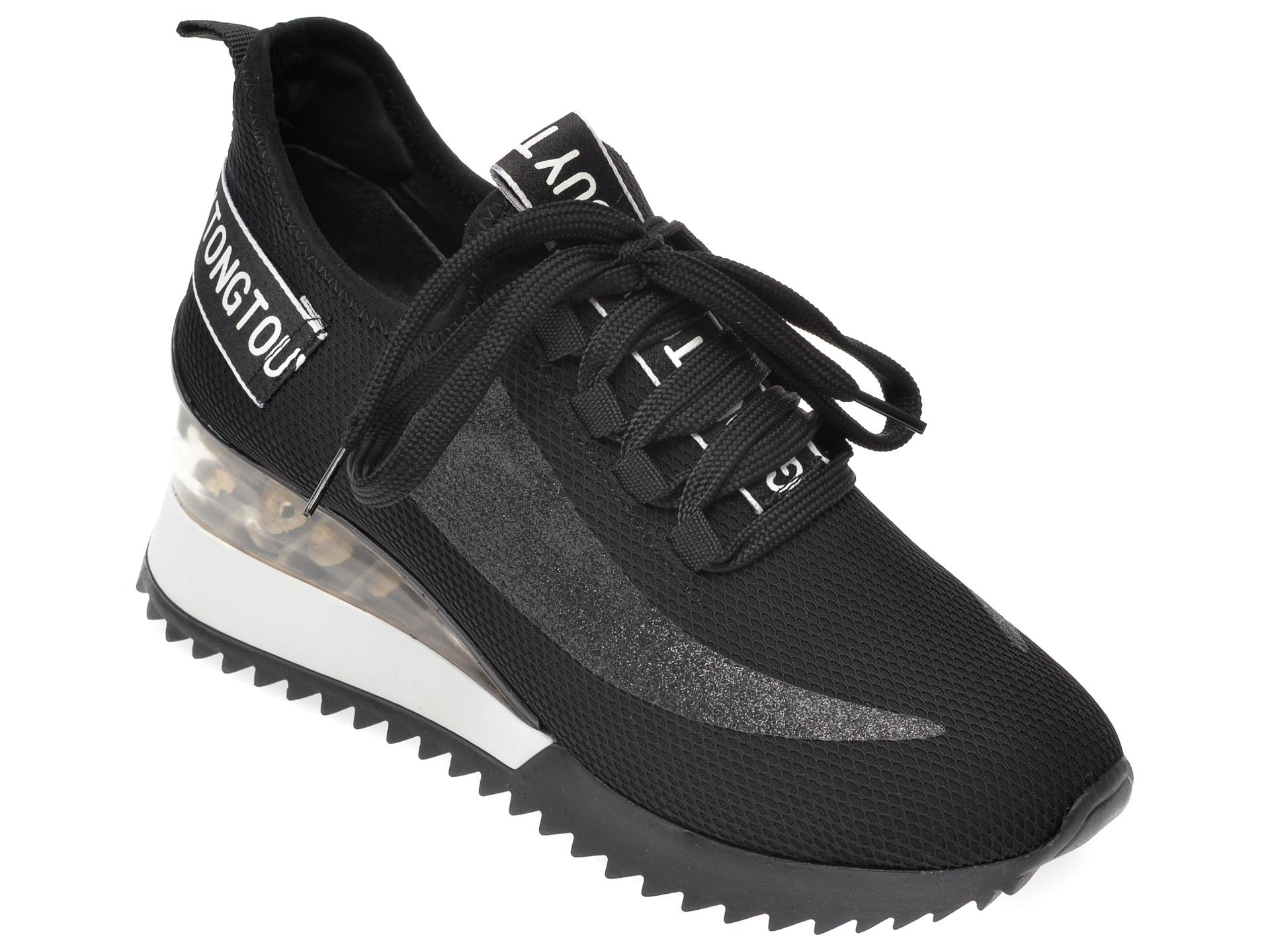 Pantofi sport GRYXX negri, MK886, din material textil