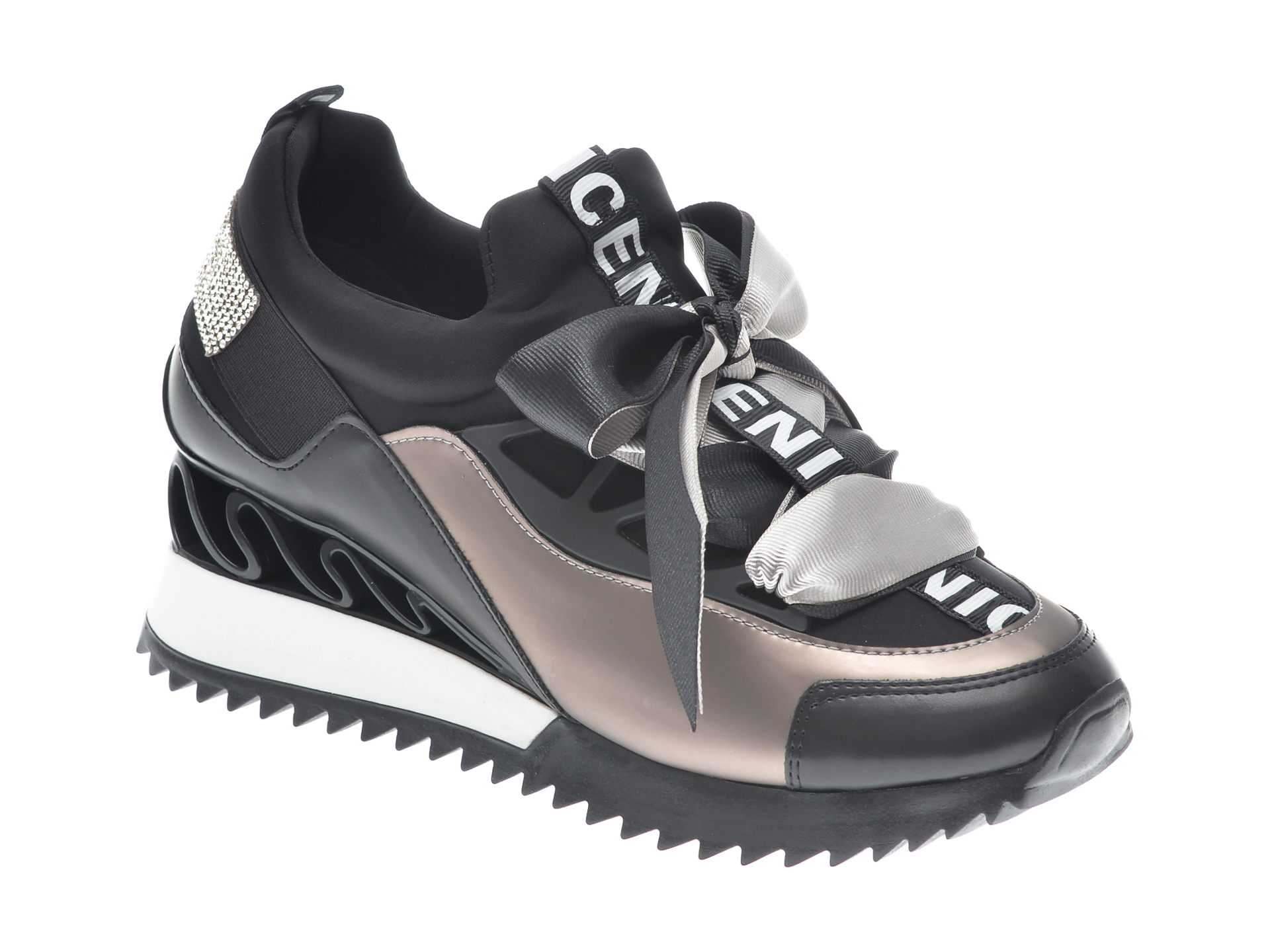 Pantofi sport GRYXX negri, MK88SN1, din piele ecologica imagine
