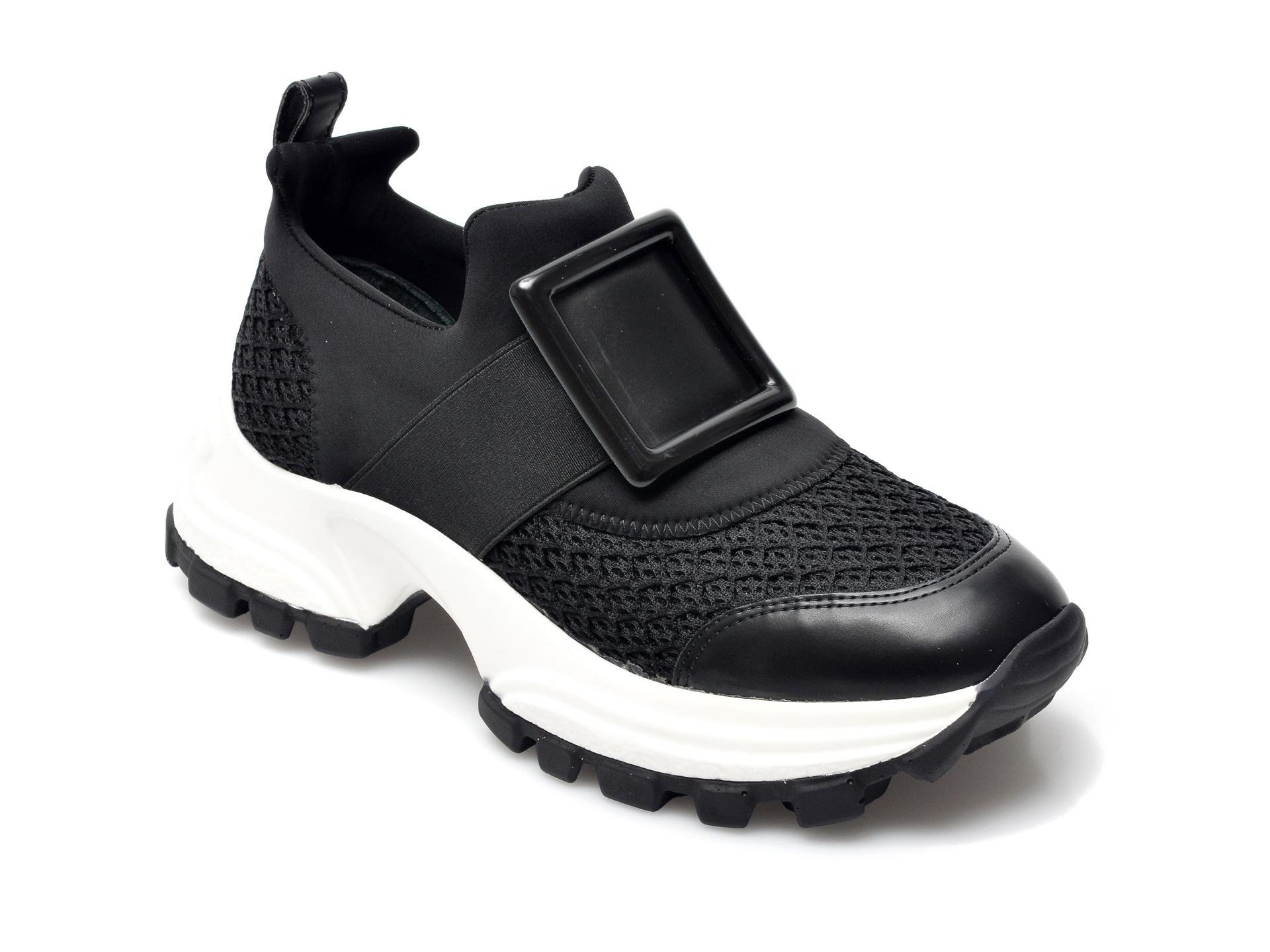 Pantofi sport GRYXX negri, MO12410, din material textil si piele ecologica