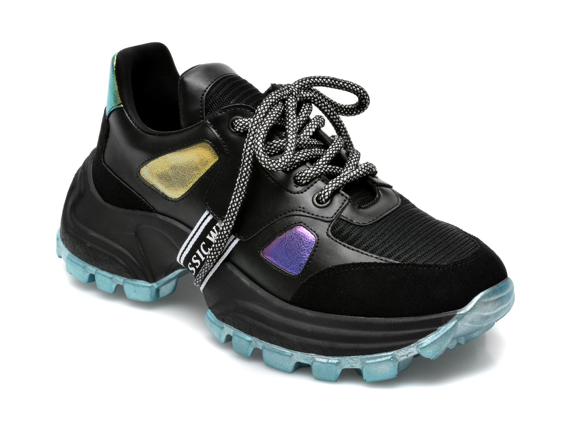 Pantofi sport GRYXX negri, MO12411, din material textil si piele ecologica imagine otter.ro 2021