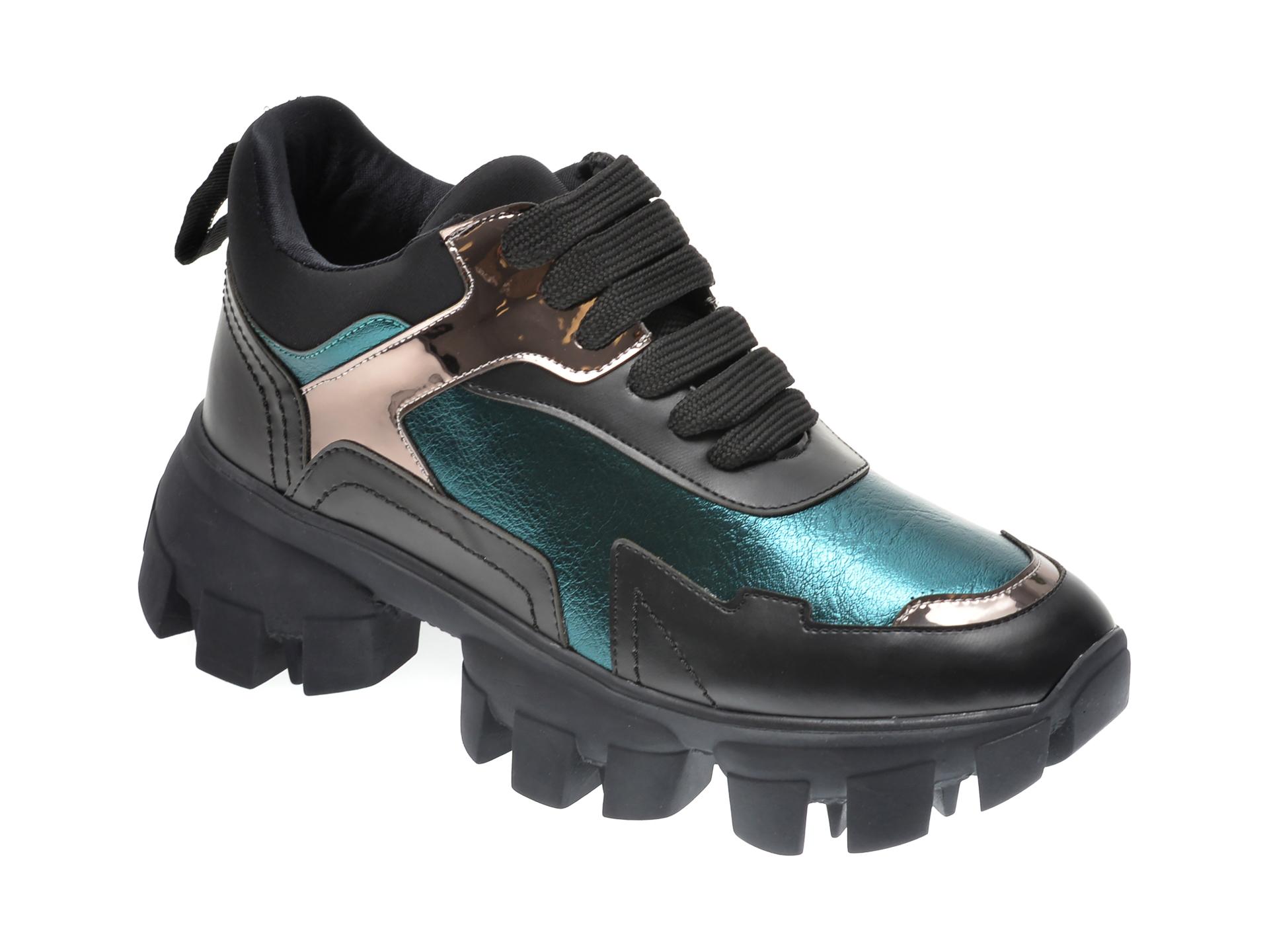 Pantofi sport GRYXX negri, MO1256, din piele ecologica imagine