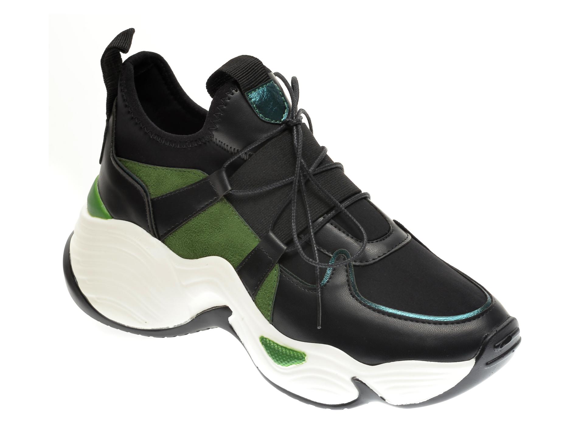 Pantofi sport GRYXX negri, MO13451, din material textil si piele ecologica