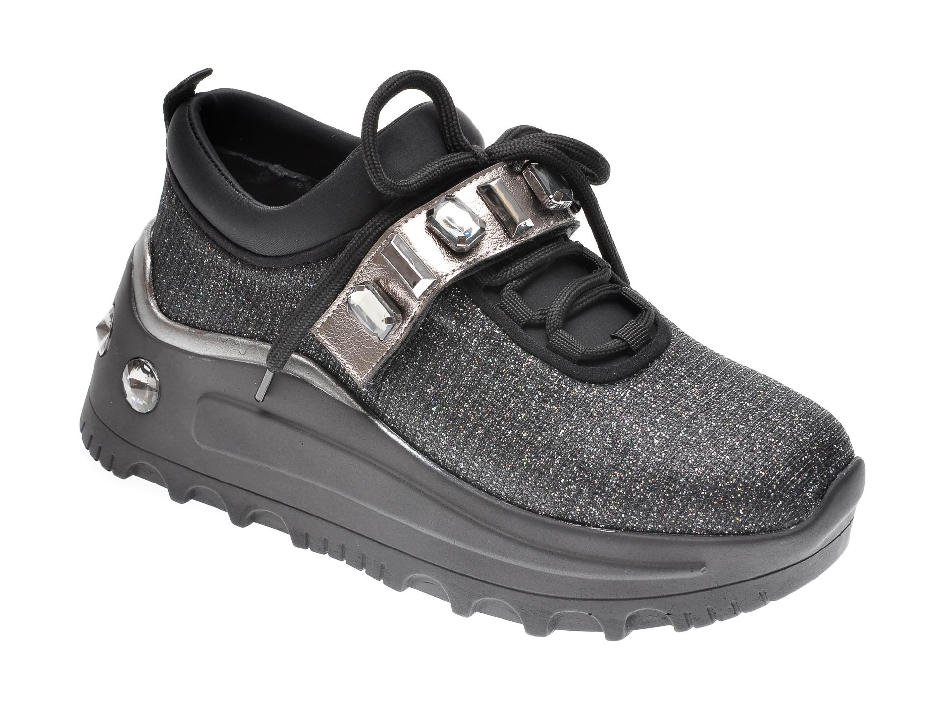 Pantofi sport GRYXX negri, MO1391, din material textil