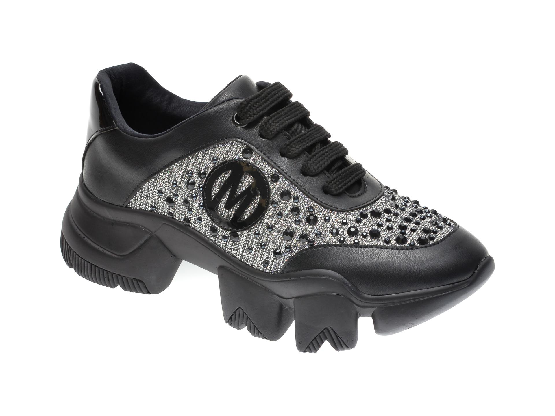 Pantofi sport GRYXX negri, MO9950, din piele ecologica imagine