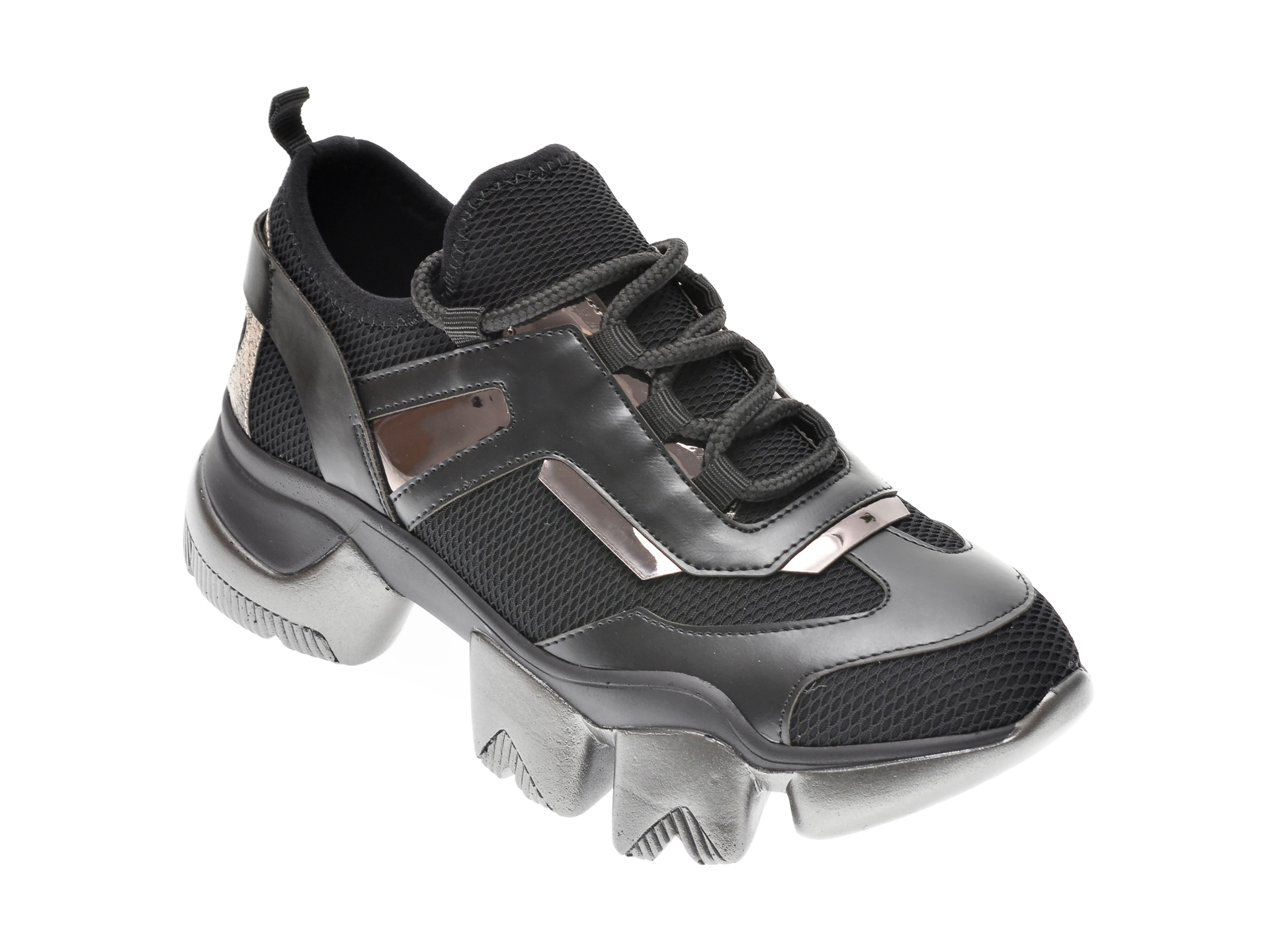 Pantofi sport GRYXX negri, MO9953, din piele ecologica