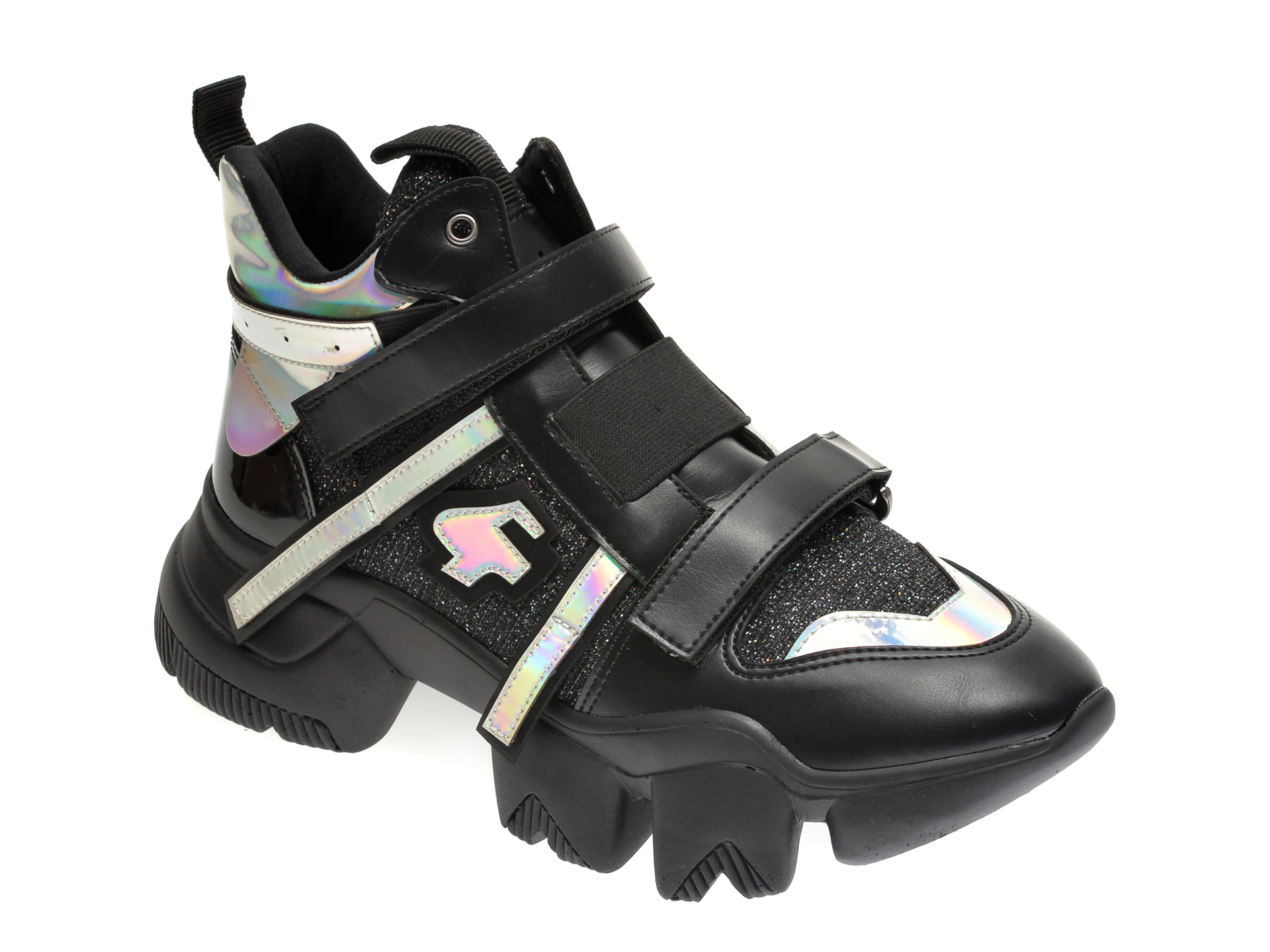 Pantofi sport GRYXX negri, MO99B51, din material textil si piele ecologica
