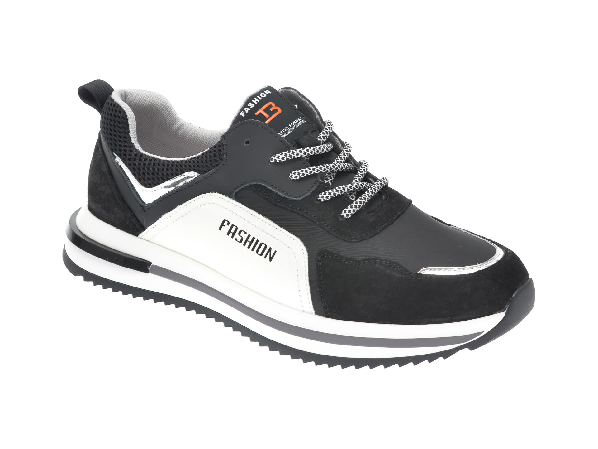 Pantofi sport GRYXX negri, P66, din piele naturala si material textil imagine