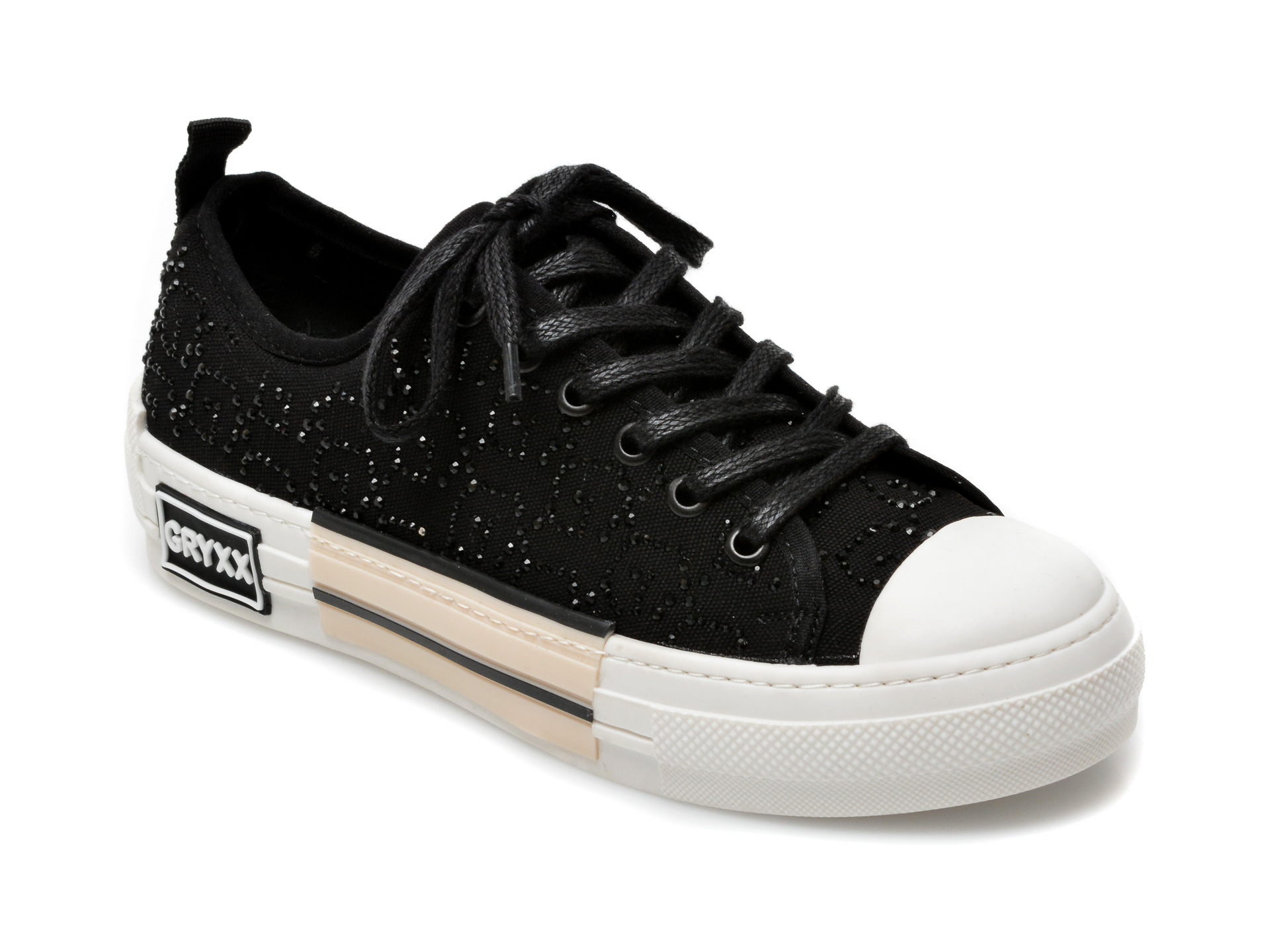 Pantofi sport GRYXX negri, T133, din material textil imagine otter.ro 2021