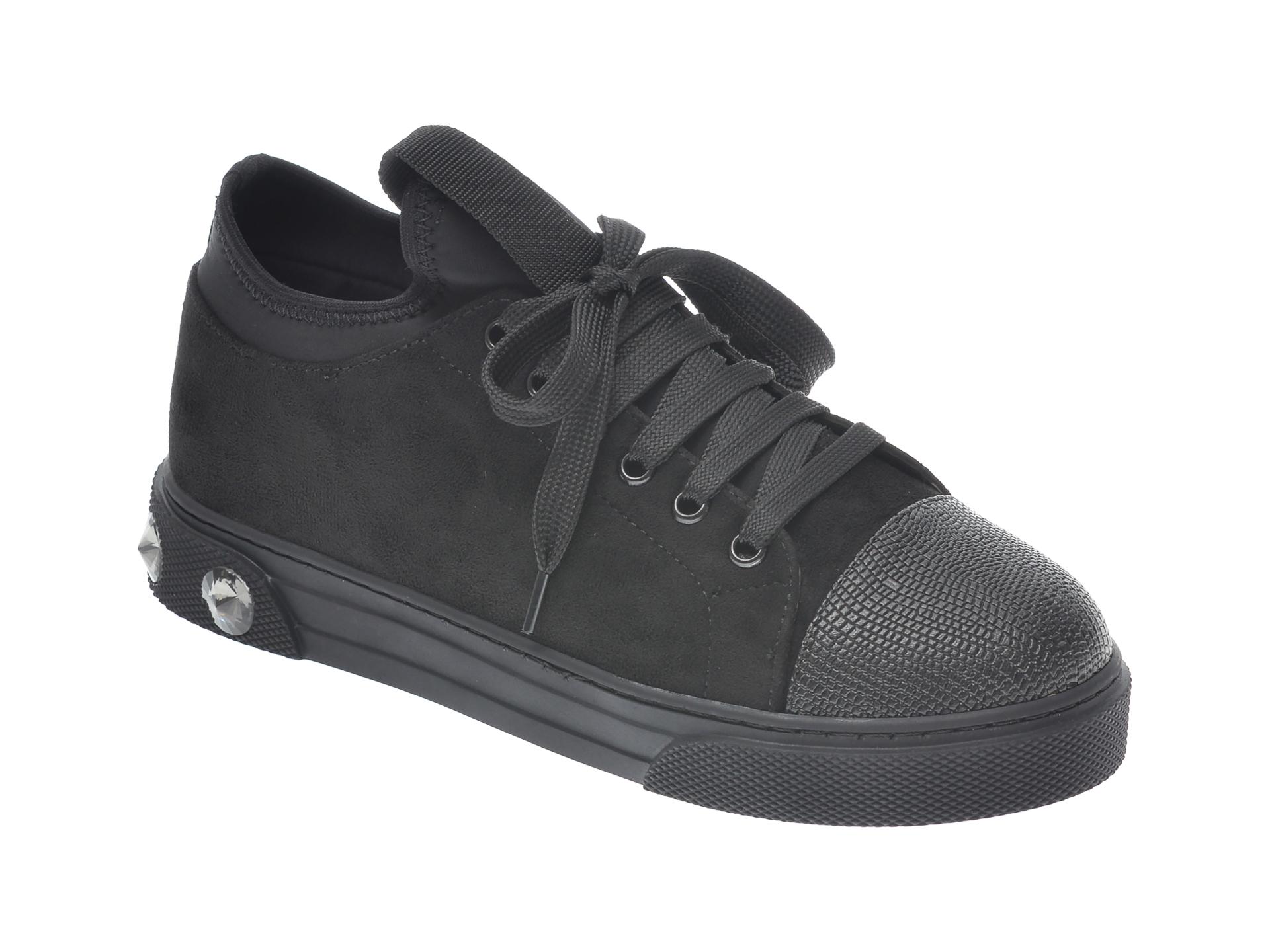 Pantofi sport GRYXX negri, T205, din material textil si piele ecologica imagine